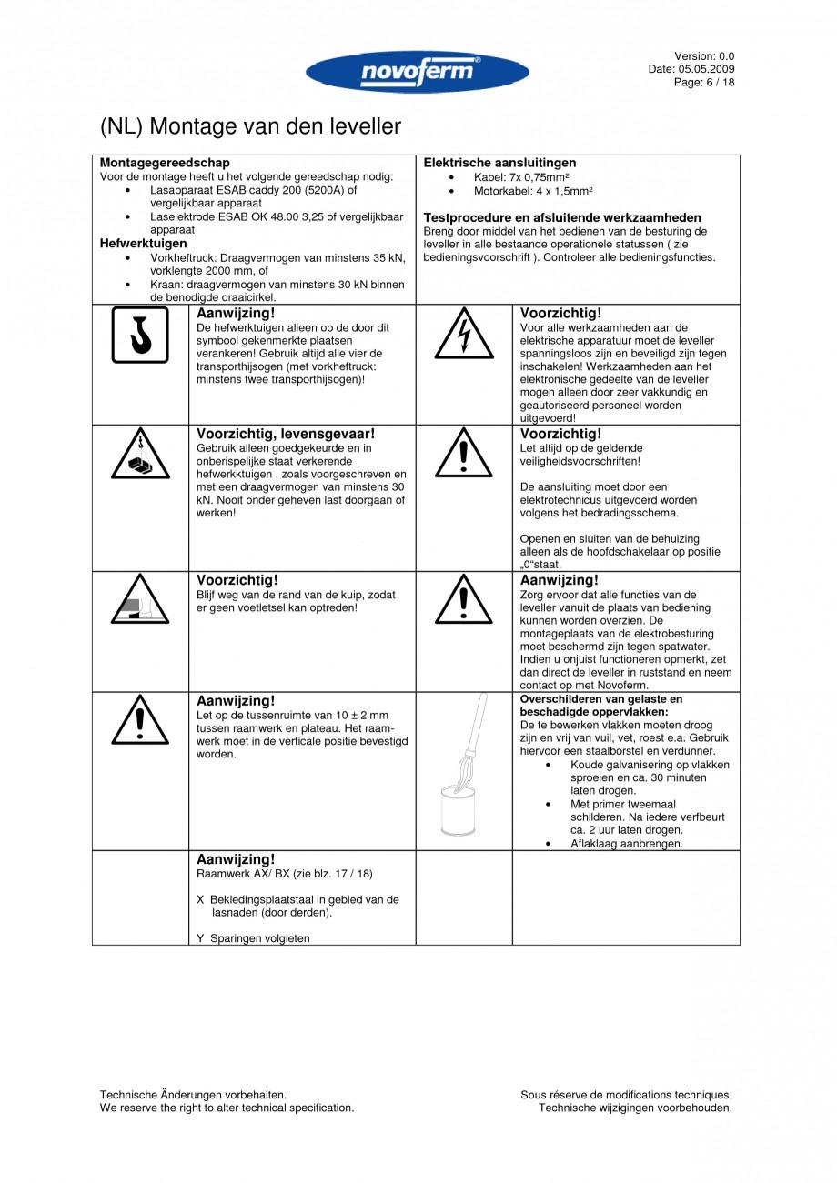 Pagina 6 - Rampe de incarcare, descarcare  NOVOFERM NovoDock L300 Instructiuni montaj, utilizare...