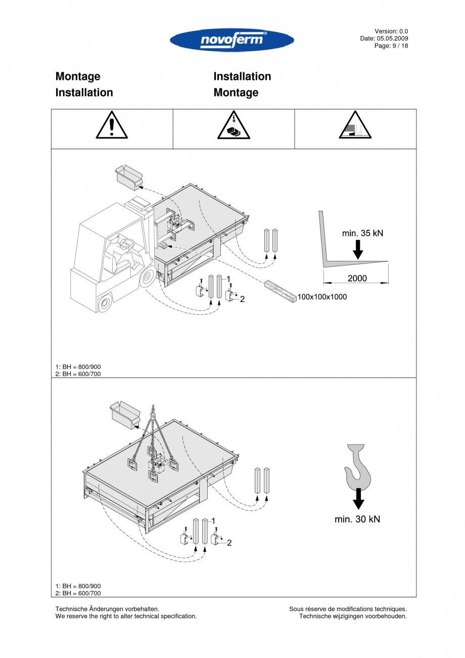 Pagina 9 - Rampe de incarcare, descarcare  NOVOFERM NovoDock L300 Instructiuni montaj, utilizare...
