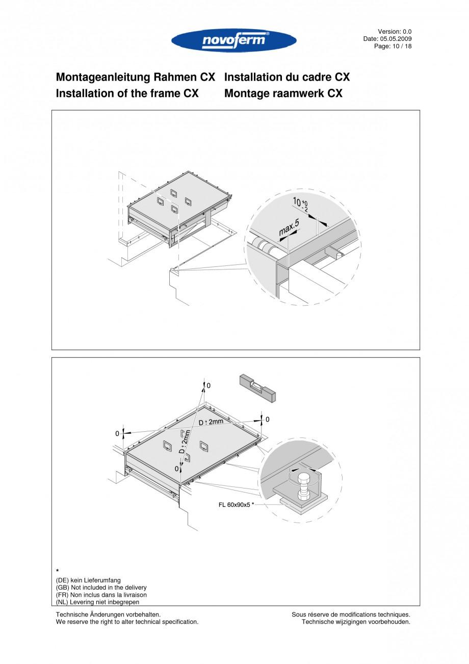 Pagina 10 - Rampe de incarcare, descarcare  NOVOFERM NovoDock L300 Instructiuni montaj, utilizare...