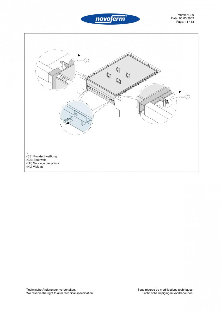 Pagina 11 - Rampe de incarcare, descarcare  NOVOFERM NovoDock L300 Instructiuni montaj, utilizare...