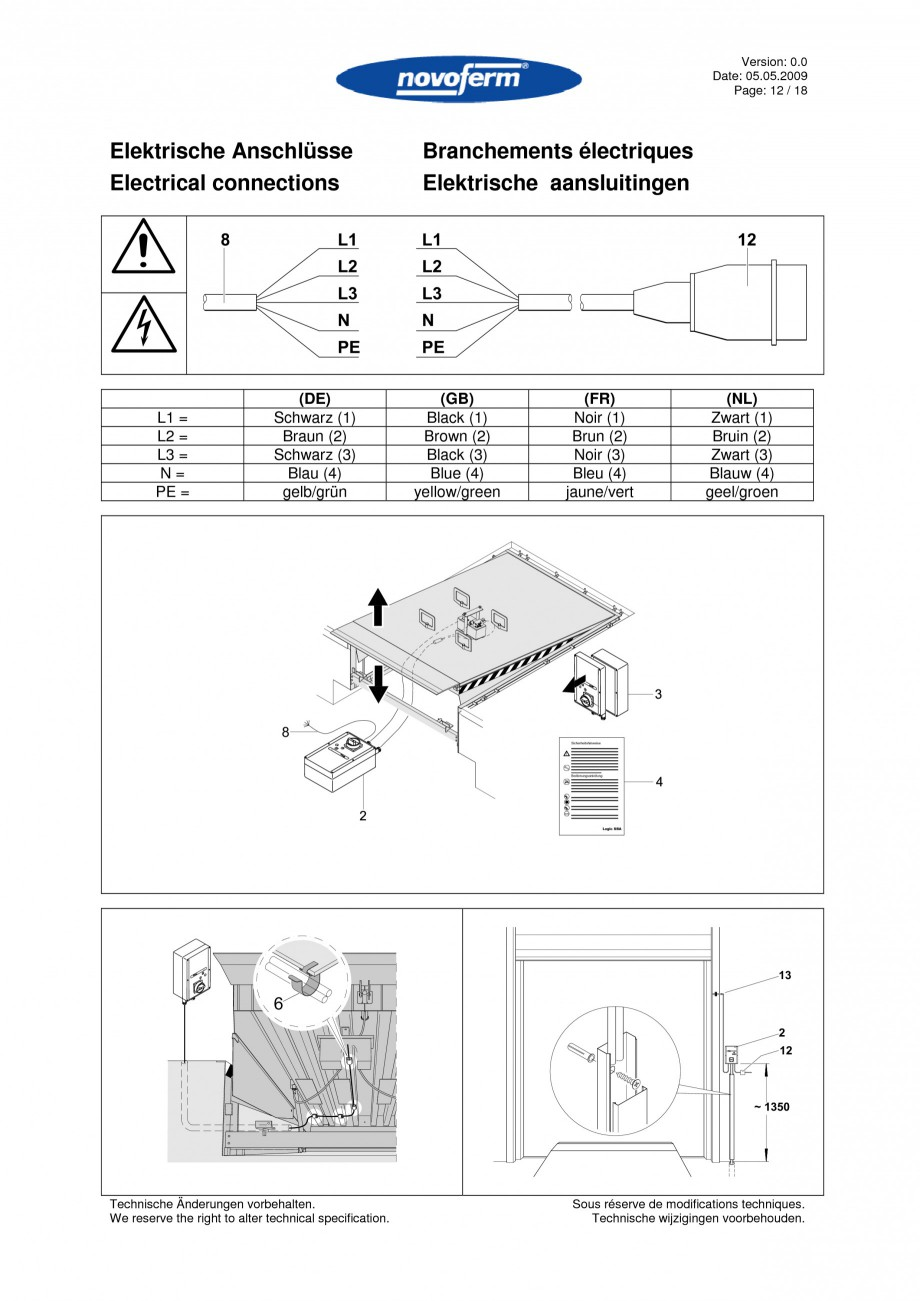 Pagina 12 - Rampe de incarcare, descarcare  NOVOFERM NovoDock L300 Instructiuni montaj, utilizare...