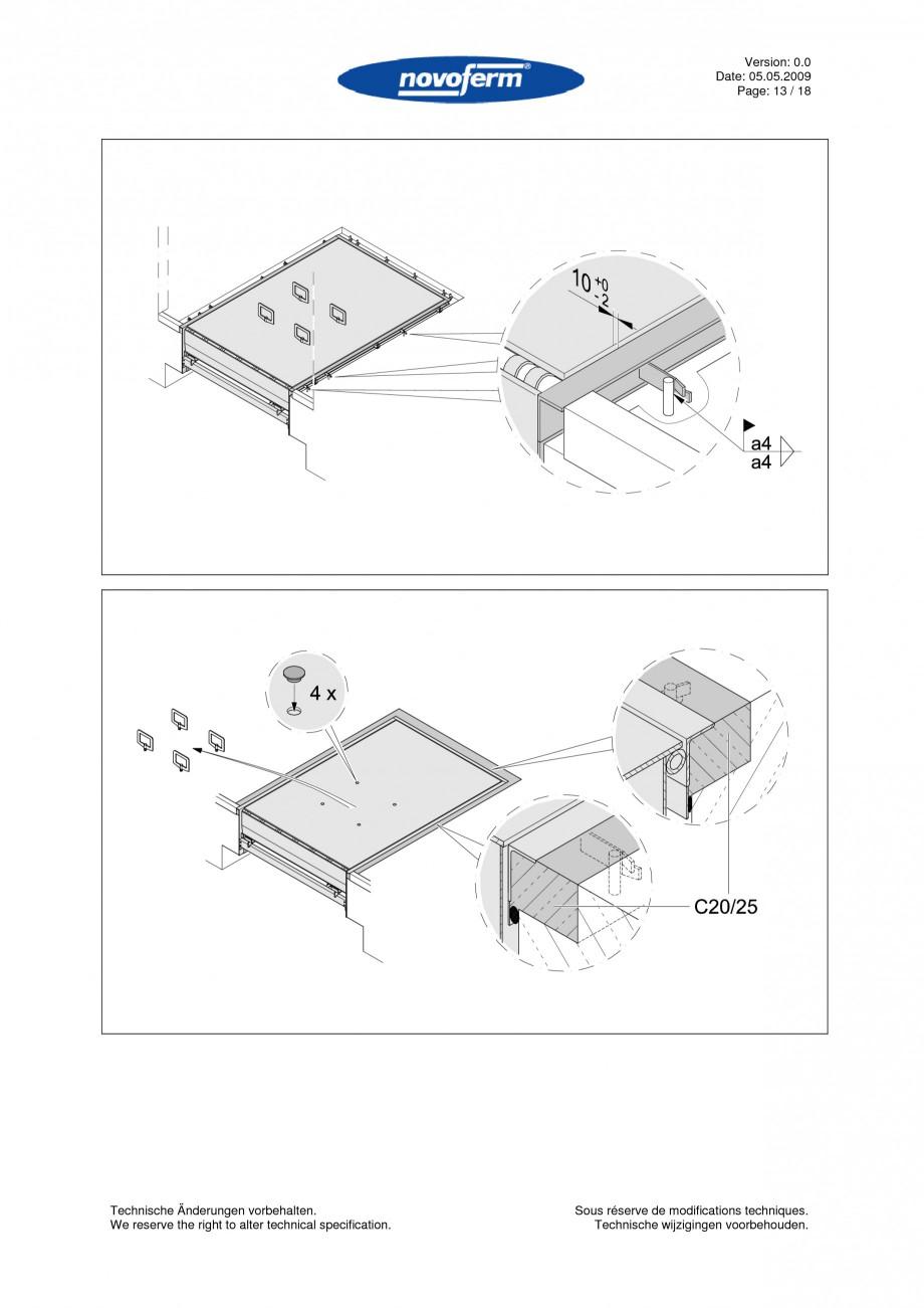 Pagina 13 - Rampe de incarcare, descarcare  NOVOFERM NovoDock L300 Instructiuni montaj, utilizare...