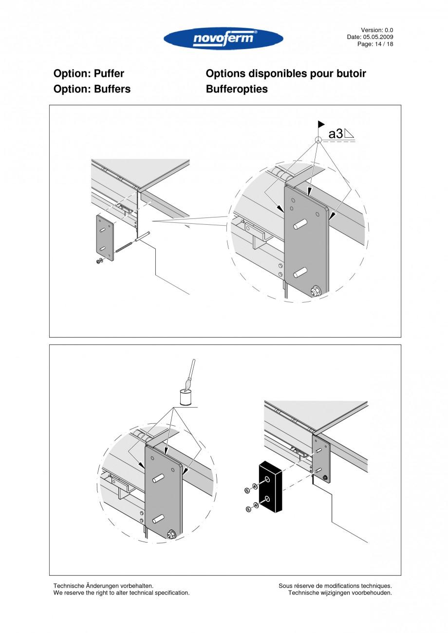 Pagina 14 - Rampe de incarcare, descarcare  NOVOFERM NovoDock L300 Instructiuni montaj, utilizare...