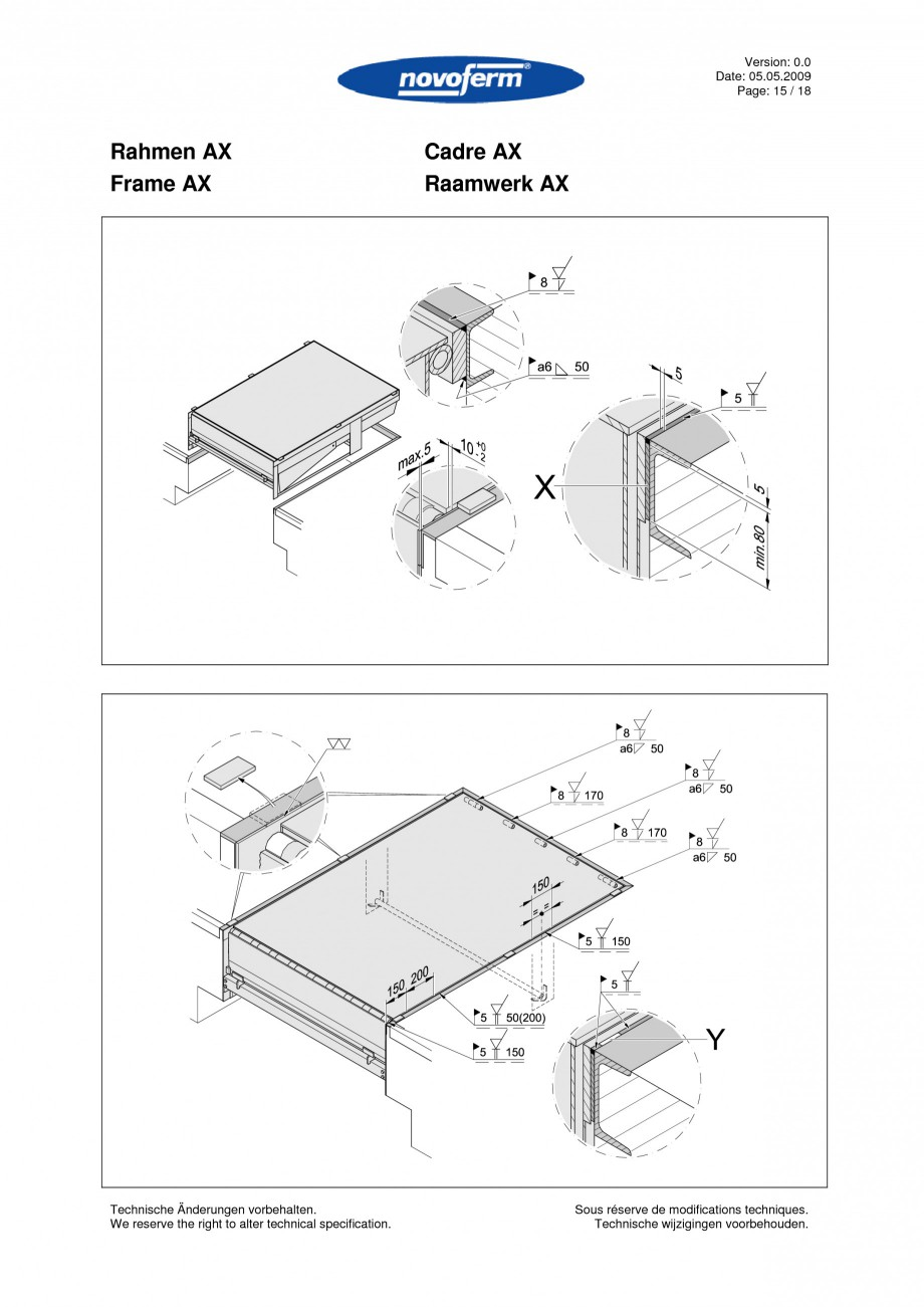 Pagina 15 - Rampe de incarcare, descarcare  NOVOFERM NovoDock L300 Instructiuni montaj, utilizare...