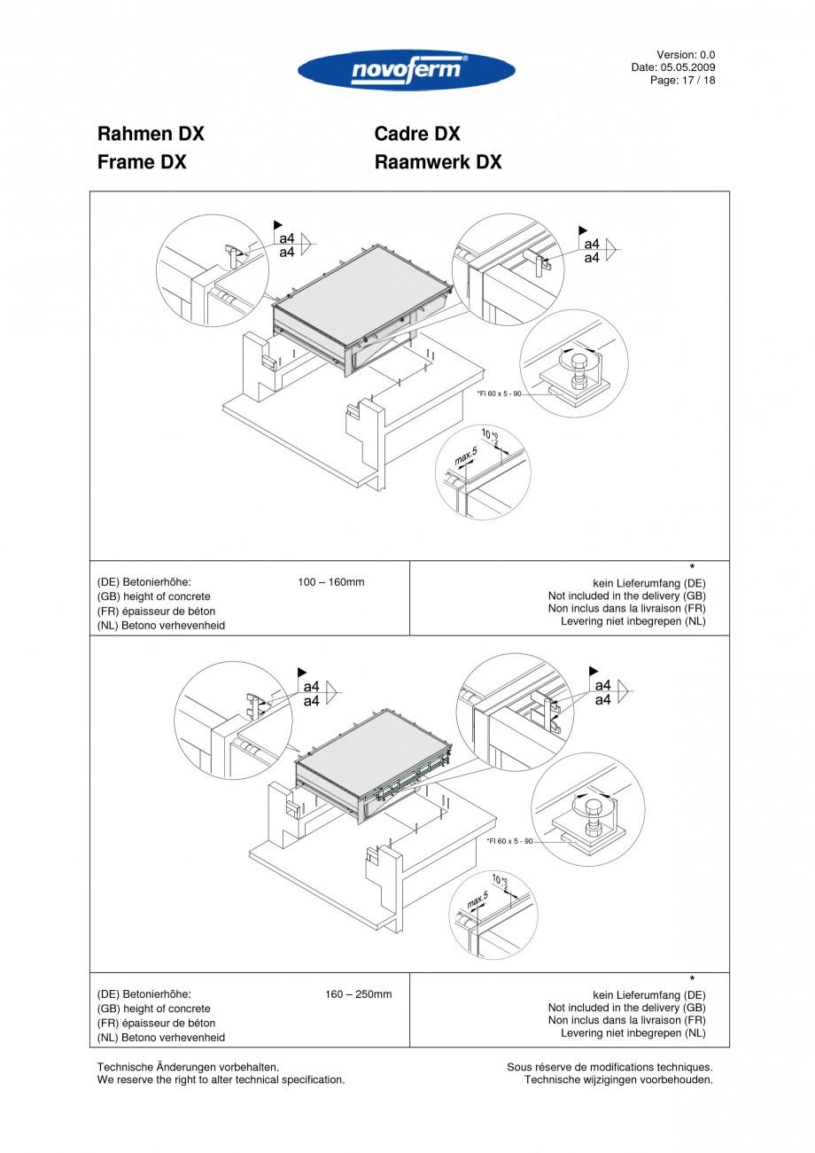 Pagina 17 - Rampe de incarcare, descarcare  NOVOFERM NovoDock L300 Instructiuni montaj, utilizare...