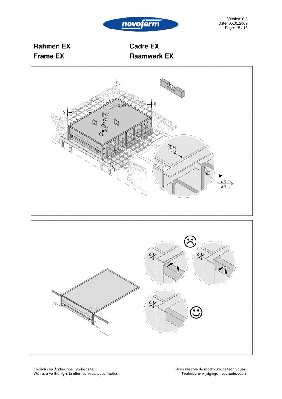 Pagina 18 - Rampe de incarcare, descarcare  NOVOFERM NovoDock L300 Instructiuni montaj, utilizare...