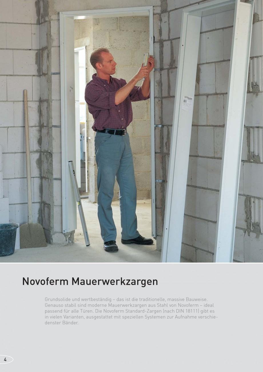 Pagina 4 - Caracteristicile tehnice pentru usile rezistente la foc NOVOFERM Fisa tehnica Germana uso...