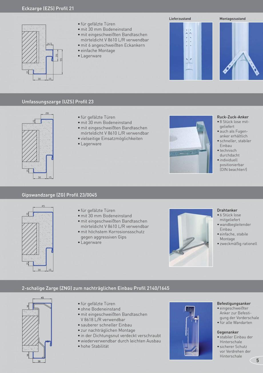 Pagina 5 - Caracteristicile tehnice pentru usile rezistente la foc NOVOFERM Fisa tehnica Germana...