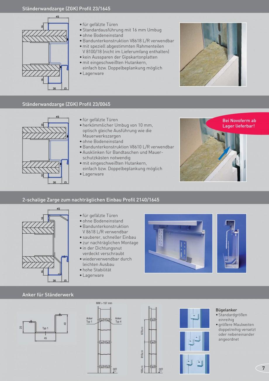 Pagina 7 - Caracteristicile tehnice pentru usile rezistente la foc NOVOFERM Fisa tehnica Germana...