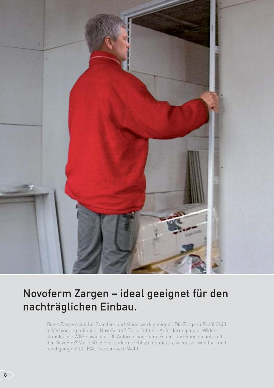 Pagina 8 - Caracteristicile tehnice pentru usile rezistente la foc NOVOFERM Fisa tehnica Germana ...