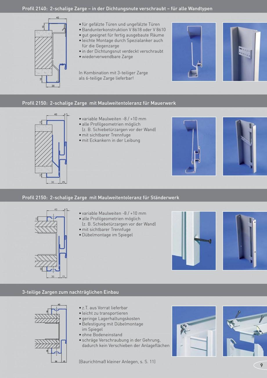 Pagina 9 - Caracteristicile tehnice pentru usile rezistente la foc NOVOFERM Fisa tehnica Germana aus...