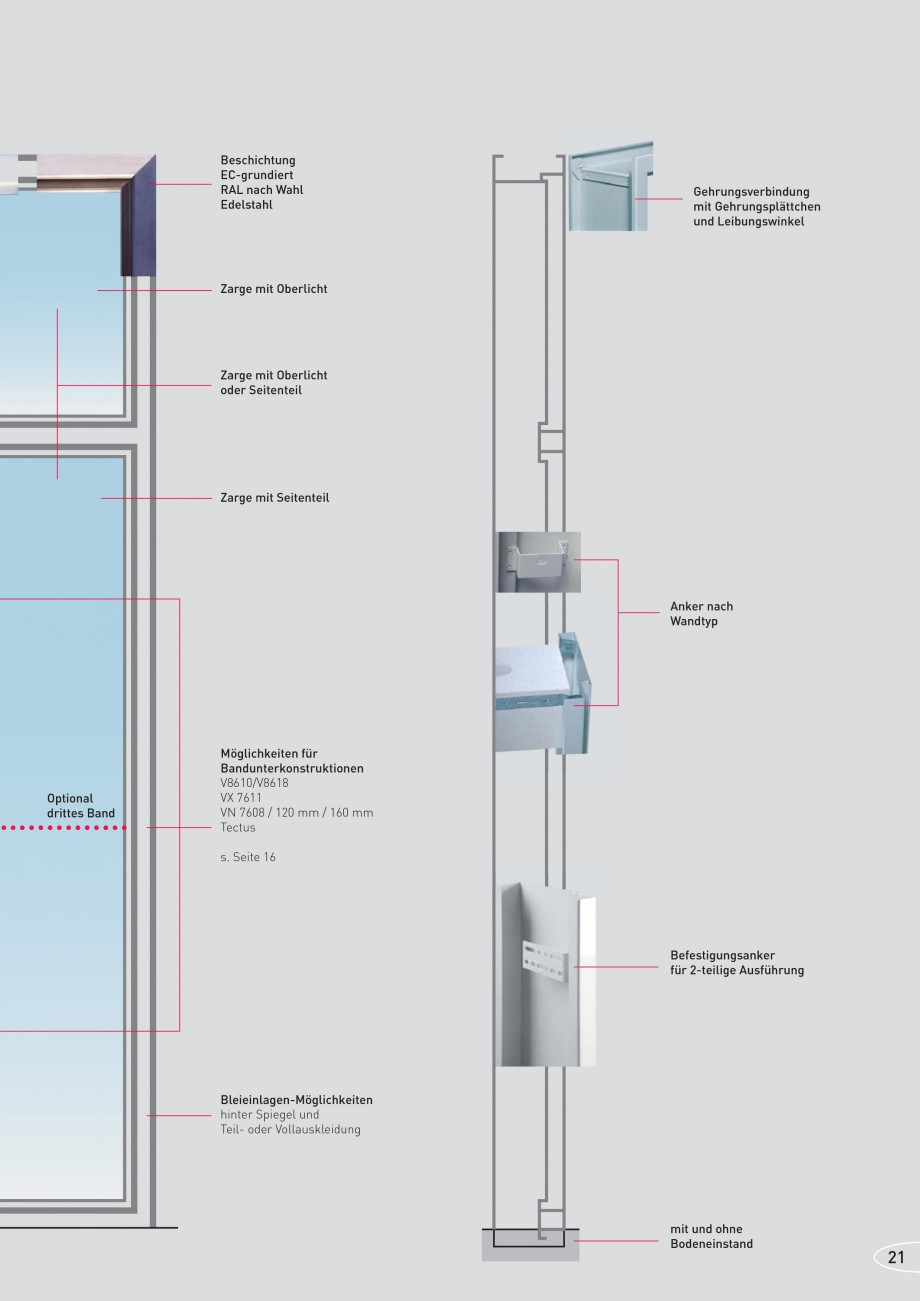 Pagina 21 - Caracteristicile tehnice pentru usile rezistente la foc NOVOFERM Fisa tehnica Germana...