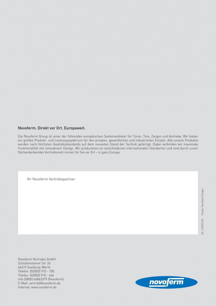 Pagina 24 - Caracteristicile tehnice pentru usile rezistente la foc NOVOFERM Fisa tehnica Germana Nr...