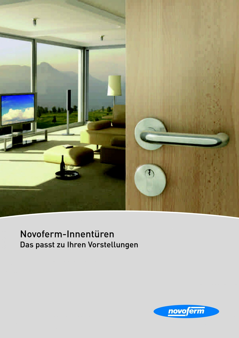 Pagina 1 - Usi rezistente la foc NOVOFERM Fisa tehnica Germana Novoferm-Innentüren Das passt zu...