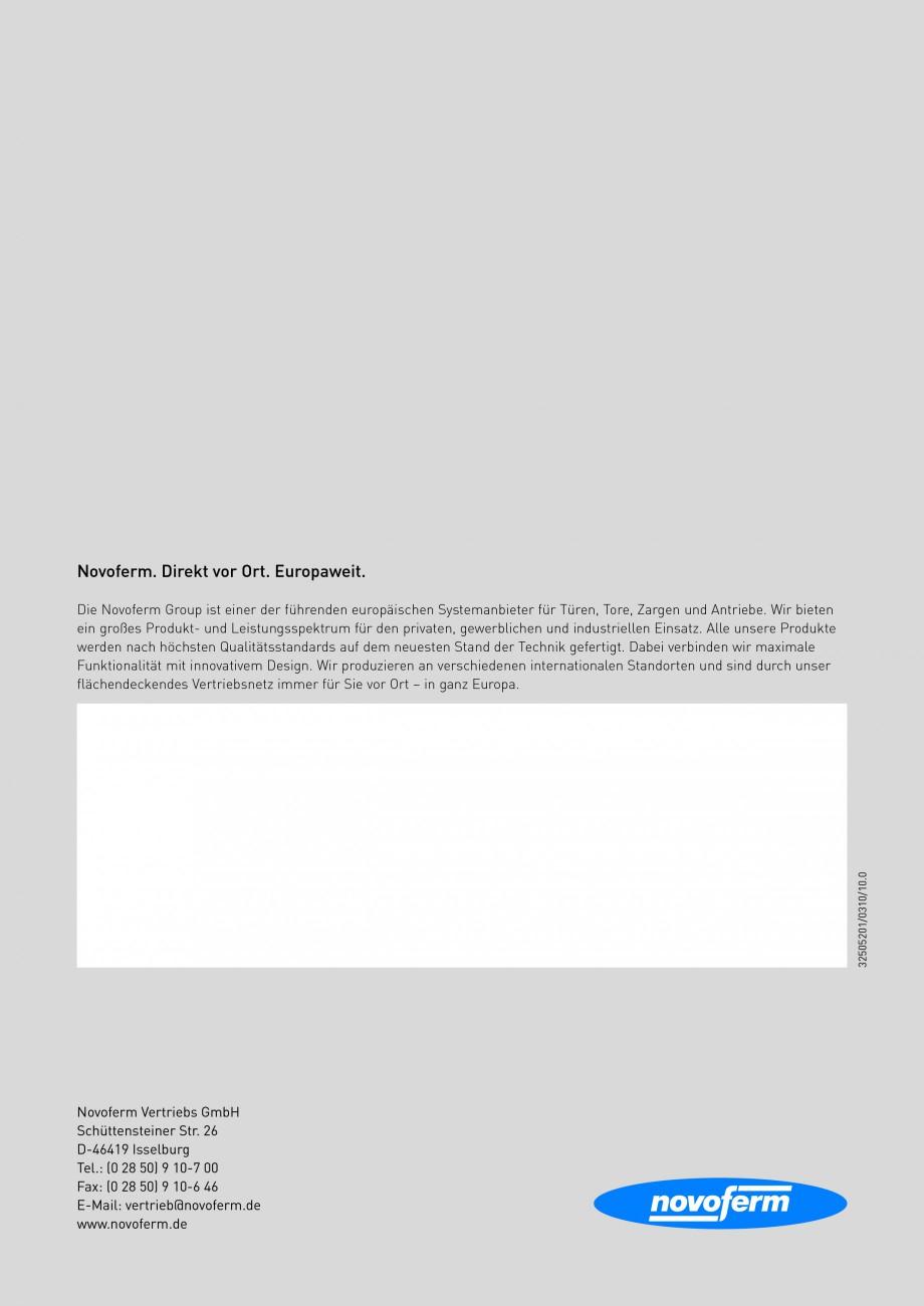 Pagina 12 - Usi rezistente la foc NOVOFERM Fisa tehnica Germana ße  Die Technik bei Innentüren...