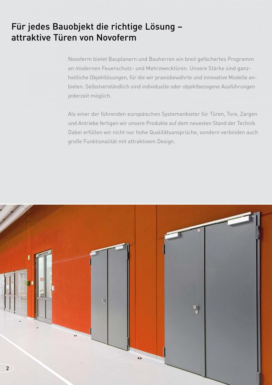 Pagina 2 - Usi rezistente la foc NOVOFERM T30, T90, MZ Fisa tehnica Germana t Rauchschutzausstattung...