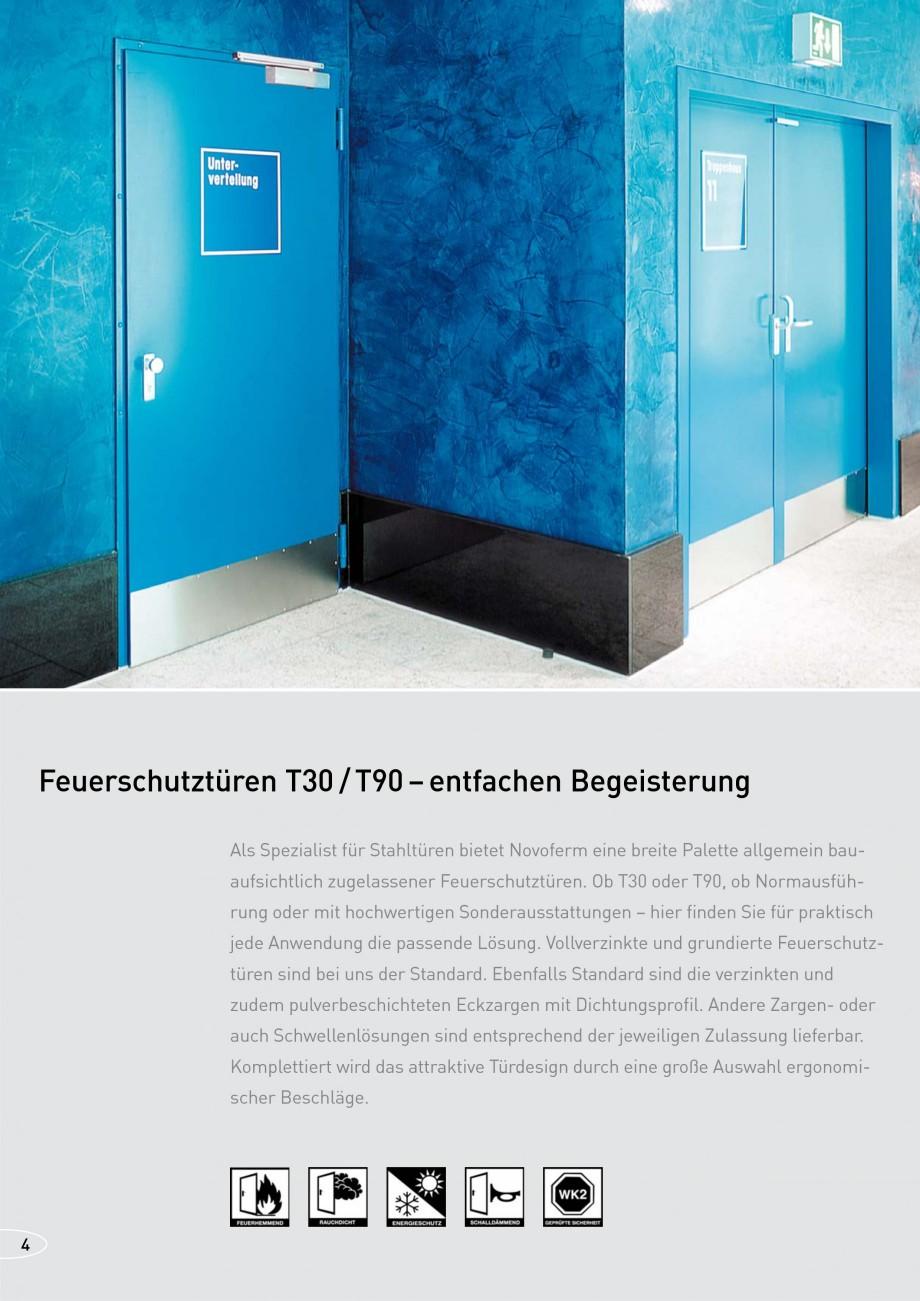 Pagina 4 - Usi rezistente la foc NOVOFERM T30, T90, MZ Fisa tehnica Germana Feuerschutztüren sind...