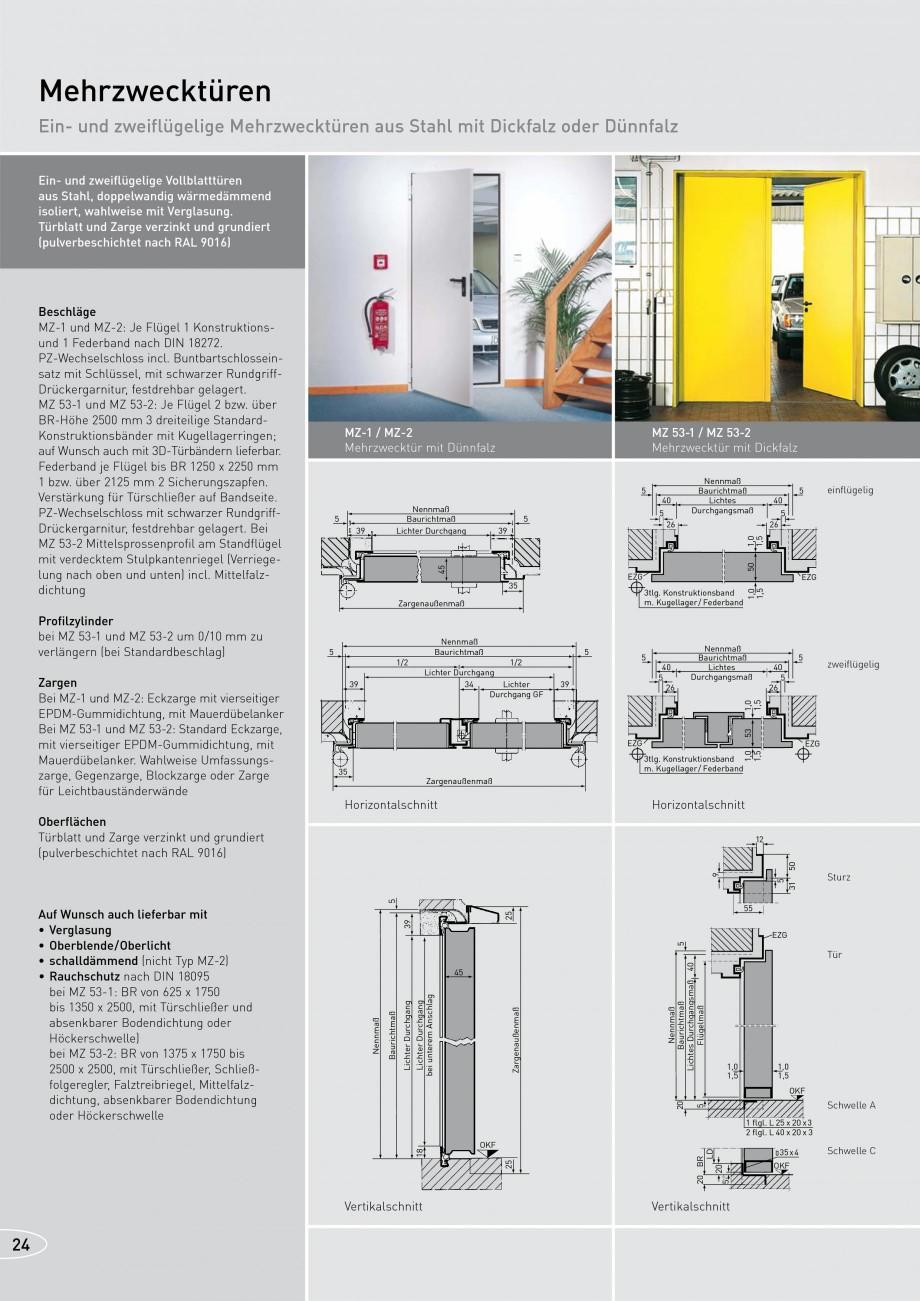 Pagina 24 - Usi rezistente la foc NOVOFERM T30, T90, MZ Fisa tehnica Germana d 3tlg. mit...