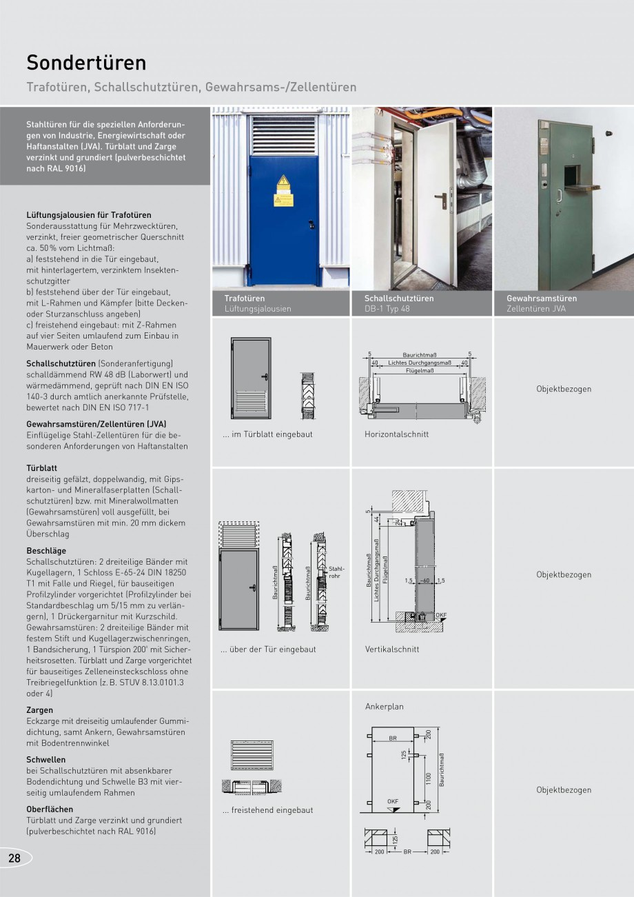 Pagina 28 - Usi rezistente la foc NOVOFERM T30, T90, MZ Fisa tehnica Germana 875 875 x 2000 875 x...