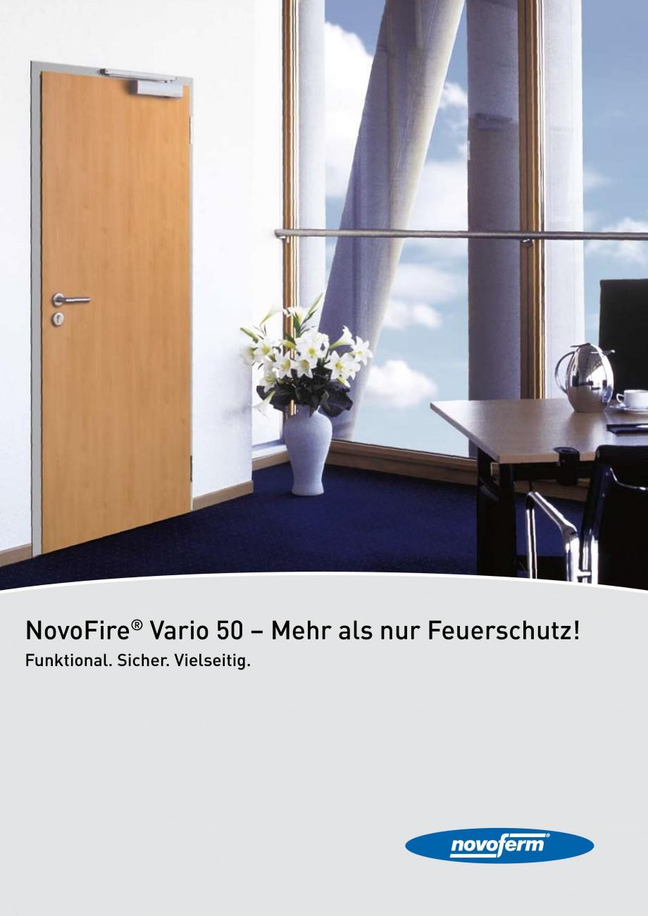 Pagina 1 - Usi rezistente la foc NOVOFERM NovoFire Fisa tehnica Germana NovoFire® Vario 50 – Mehr...