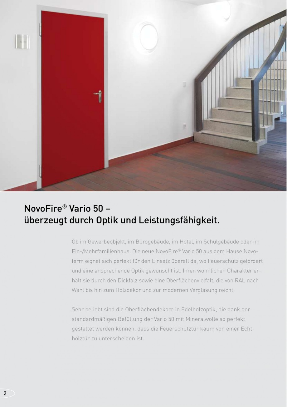 Pagina 2 - Usi rezistente la foc NOVOFERM NovoFire Fisa tehnica Germana nfache Montage,...