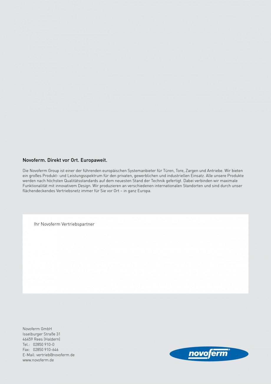 Pagina 8 - Usi rezistente la foc NOVOFERM NovoFire Fisa tehnica Germana