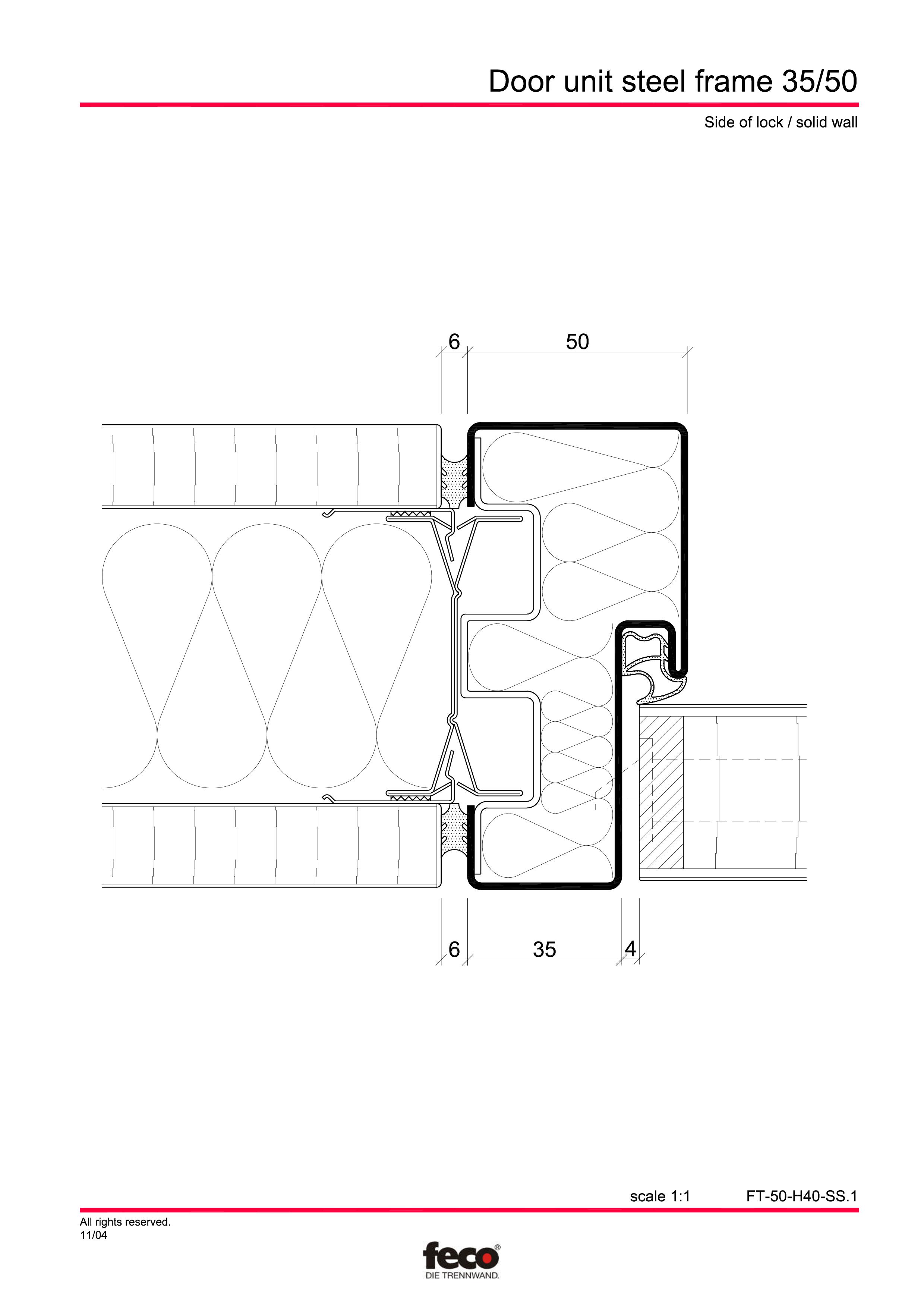Pagina 2 - CAD-PDF Profile usi din otel FECO Detaliu de montaj FecoCent, FecoPur