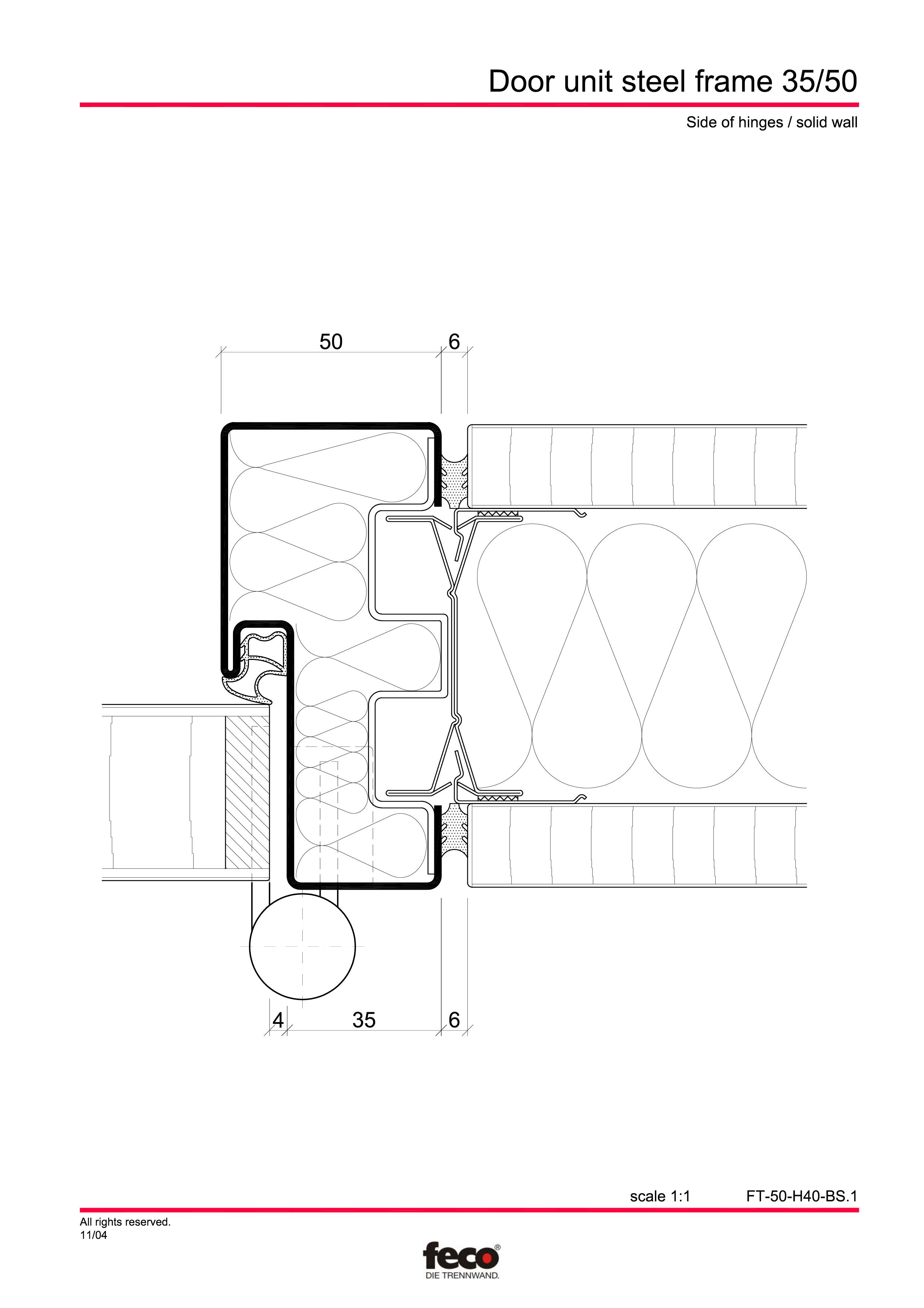 Pagina 3 - CAD-PDF Profile usi din otel FECO Detaliu de montaj FecoCent, FecoPur