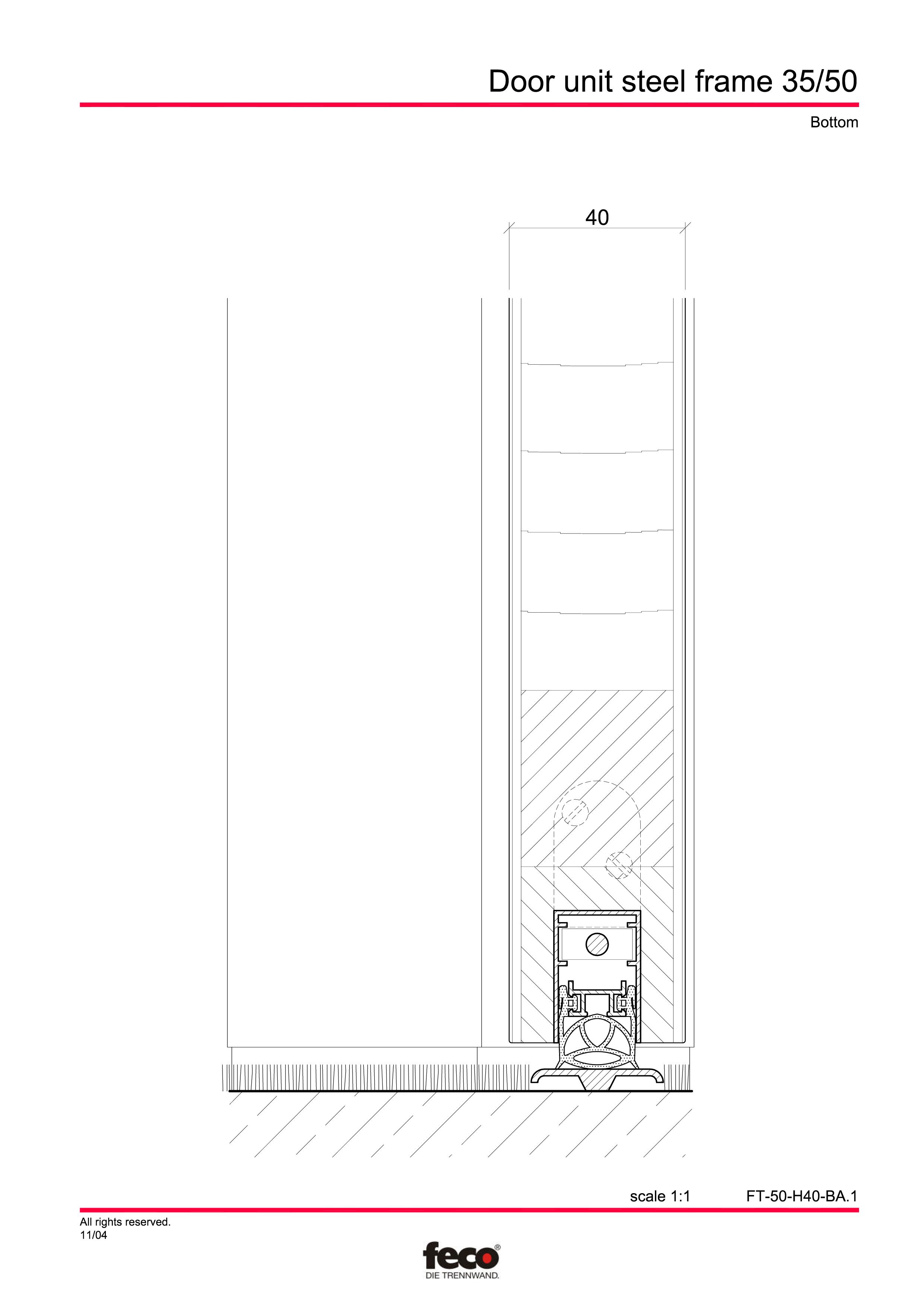 Pagina 4 - CAD-PDF Profile usi din otel FECO Detaliu de montaj FecoCent, FecoPur