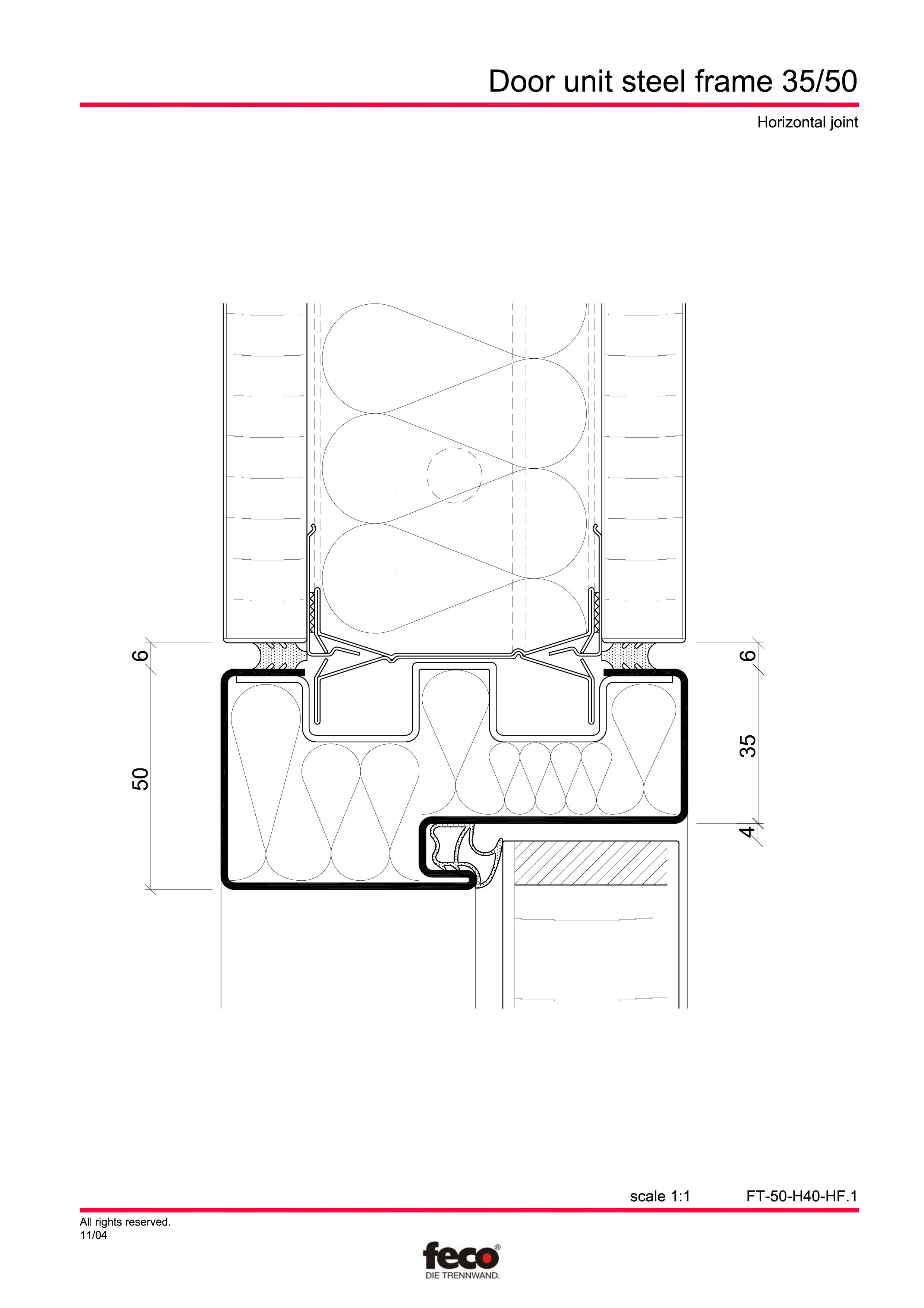 Pagina 5 - CAD-PDF Profile usi din otel FECO Detaliu de montaj FecoCent, FecoPur