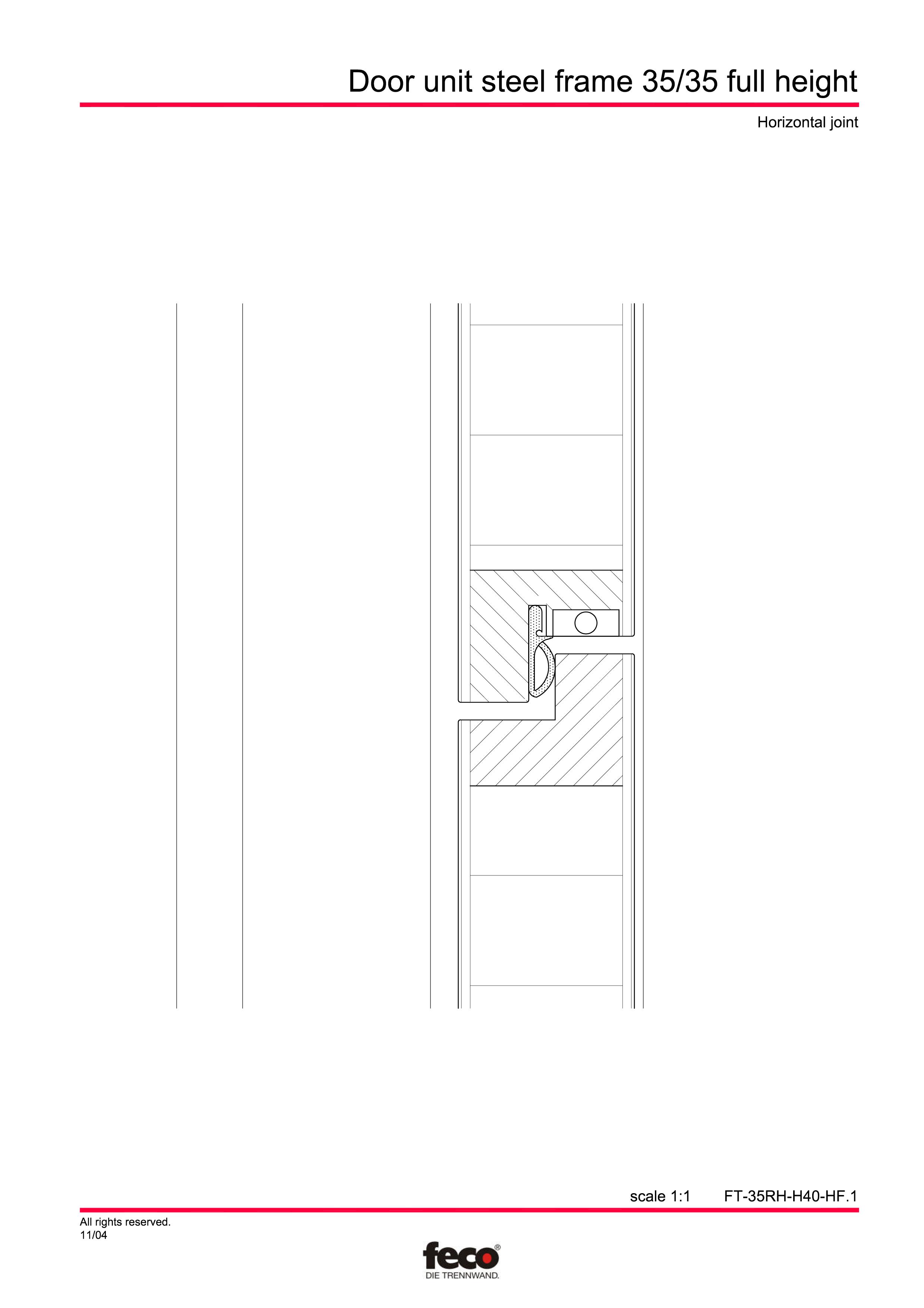 Pagina 3 - CAD-PDF Profile usi din otel (pana la planseu) FECO Detaliu de montaj