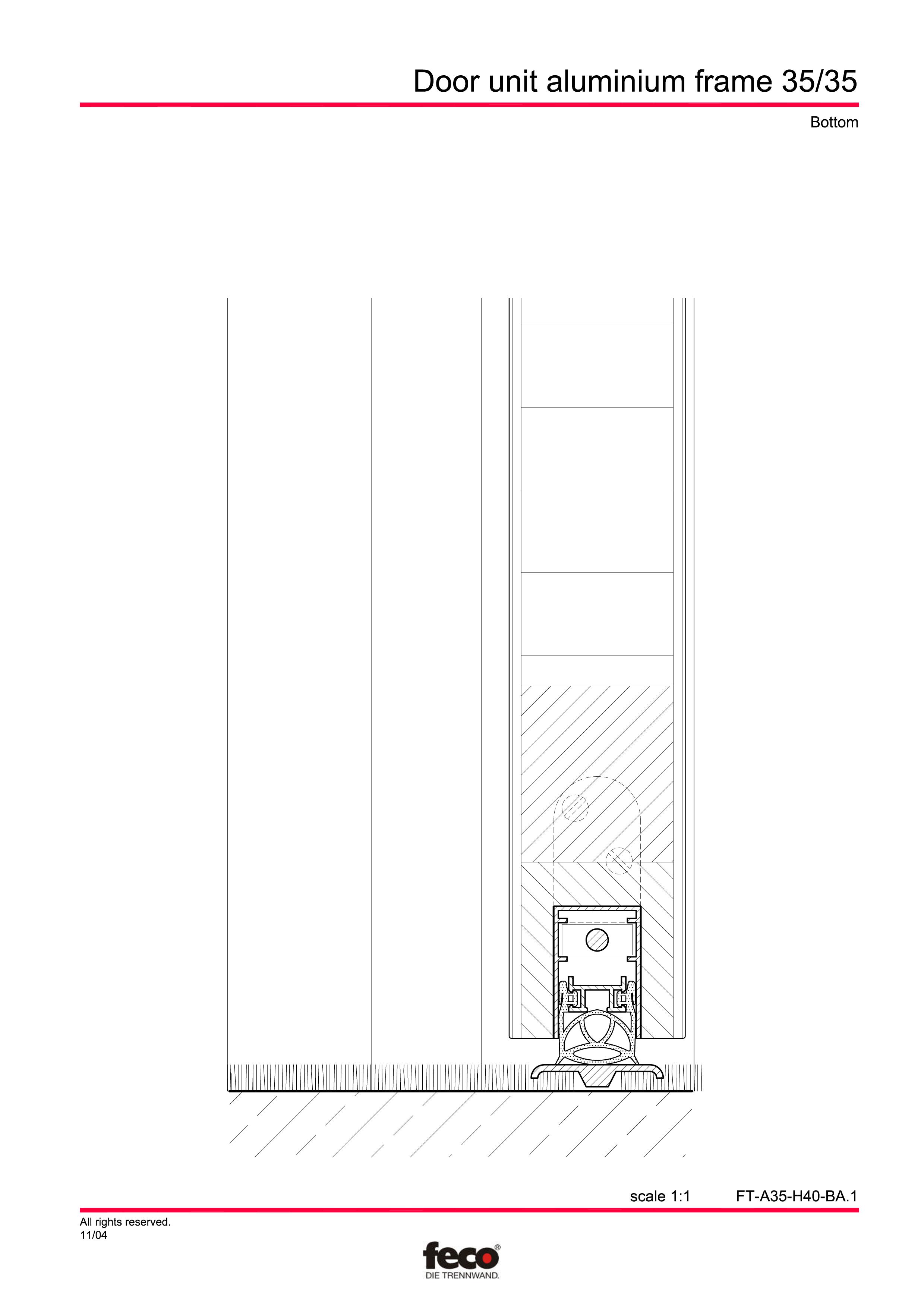 Pagina 4 - CAD-PDF Profile usi din aluminiu FECO Detaliu de montaj