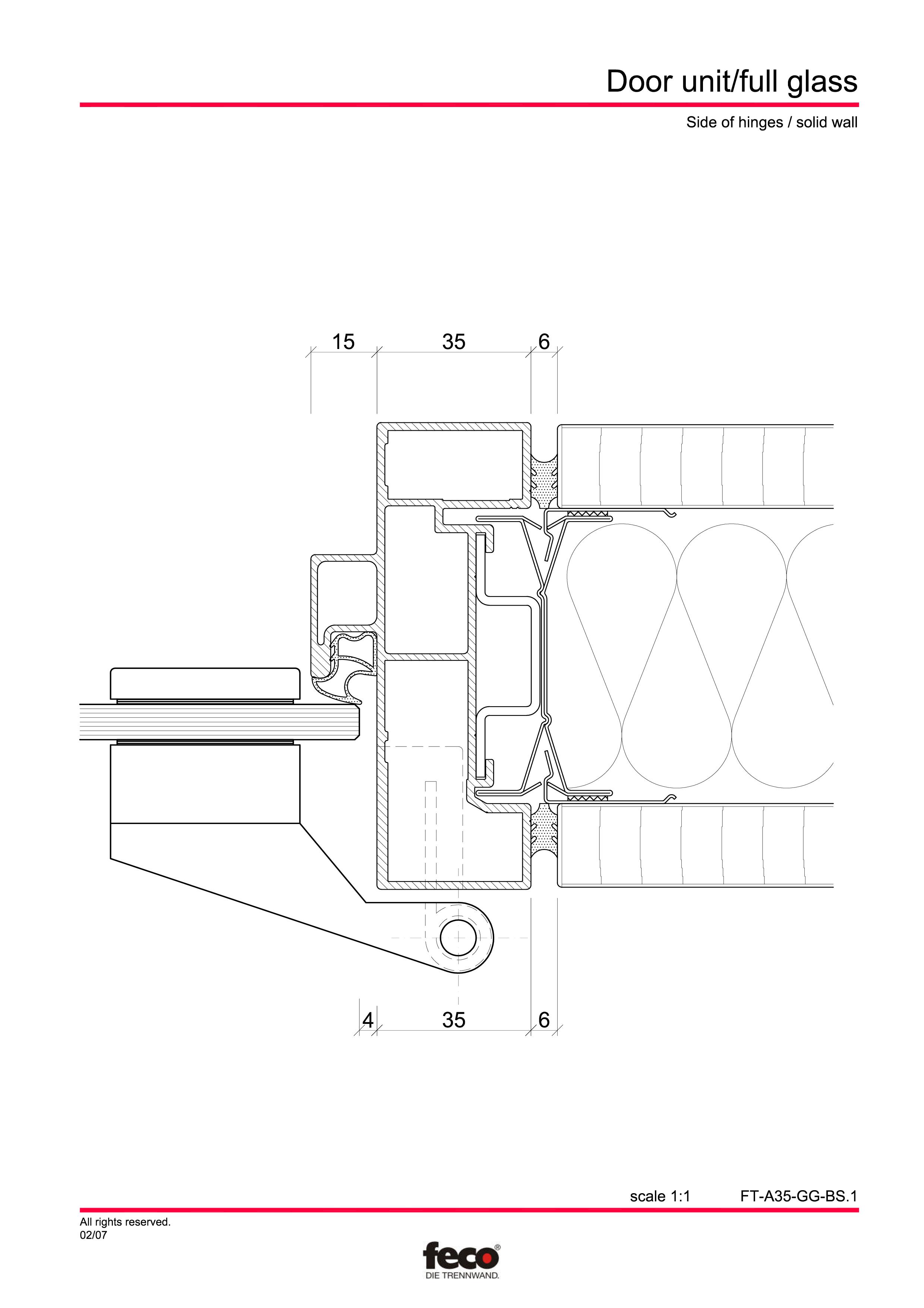 Pagina 3 - CAD-PDF Usa de sticla FECO Detaliu de montaj