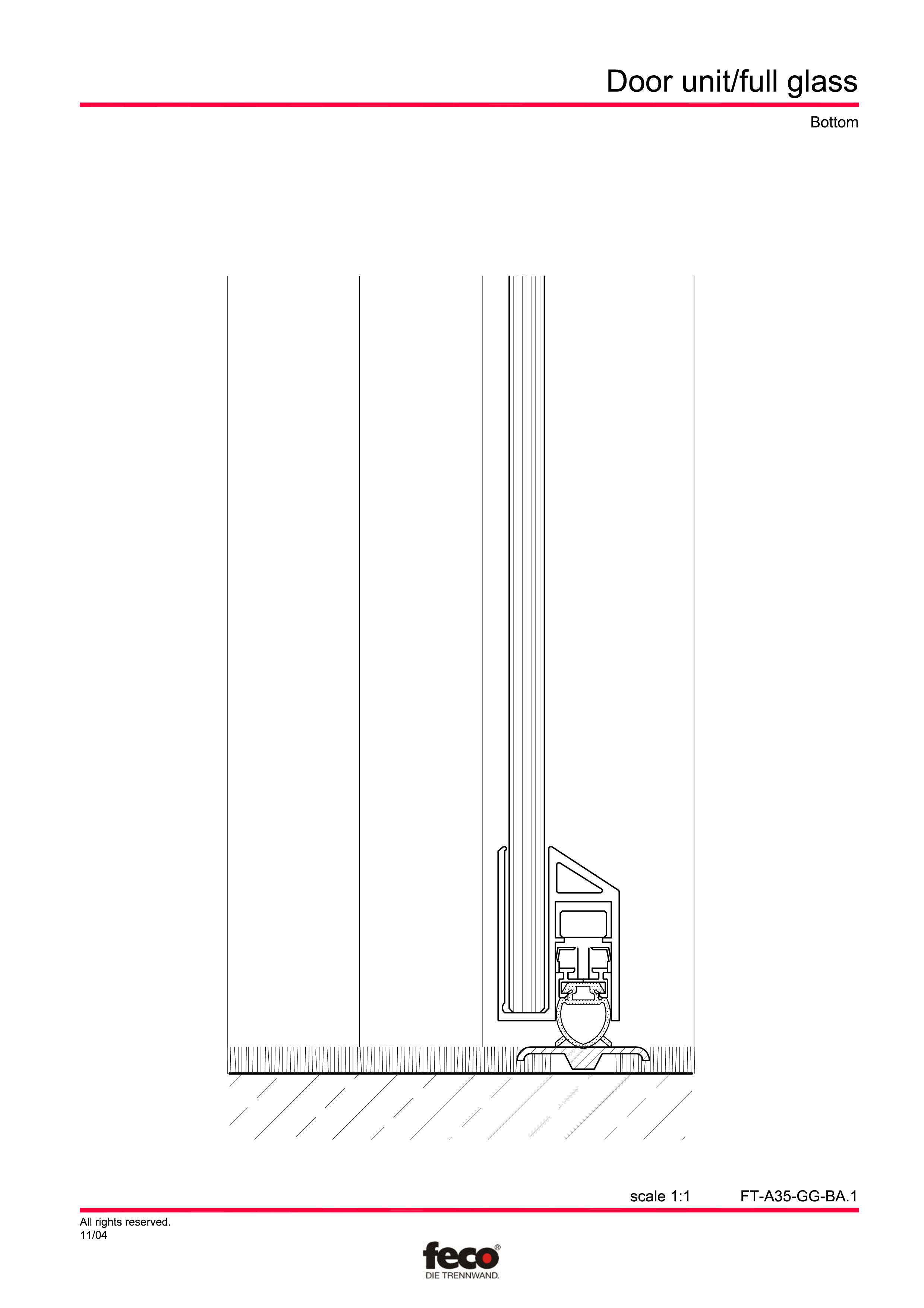 Pagina 4 - CAD-PDF Usa de sticla FECO Detaliu de montaj