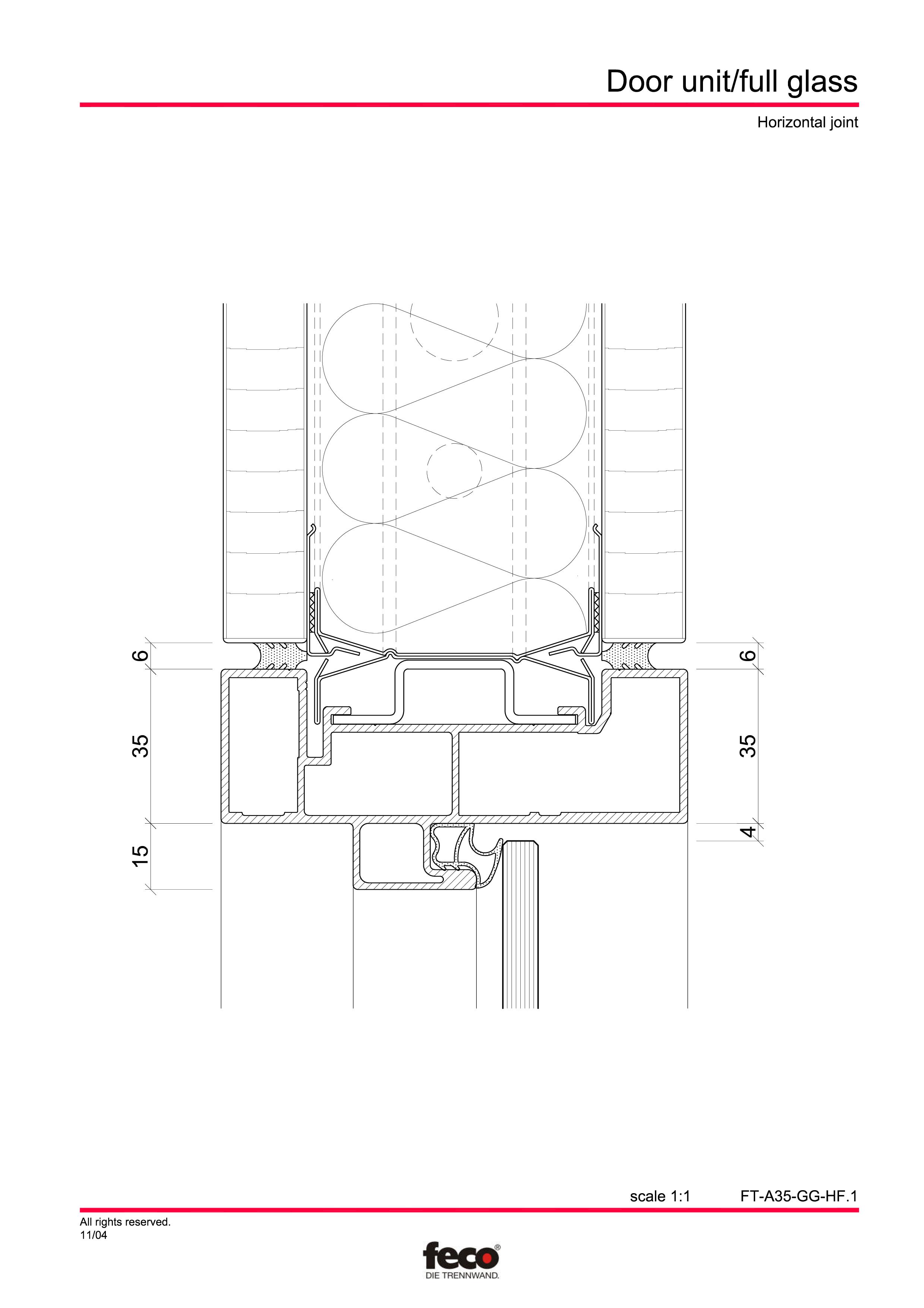 Pagina 5 - CAD-PDF Usa de sticla FECO Detaliu de montaj