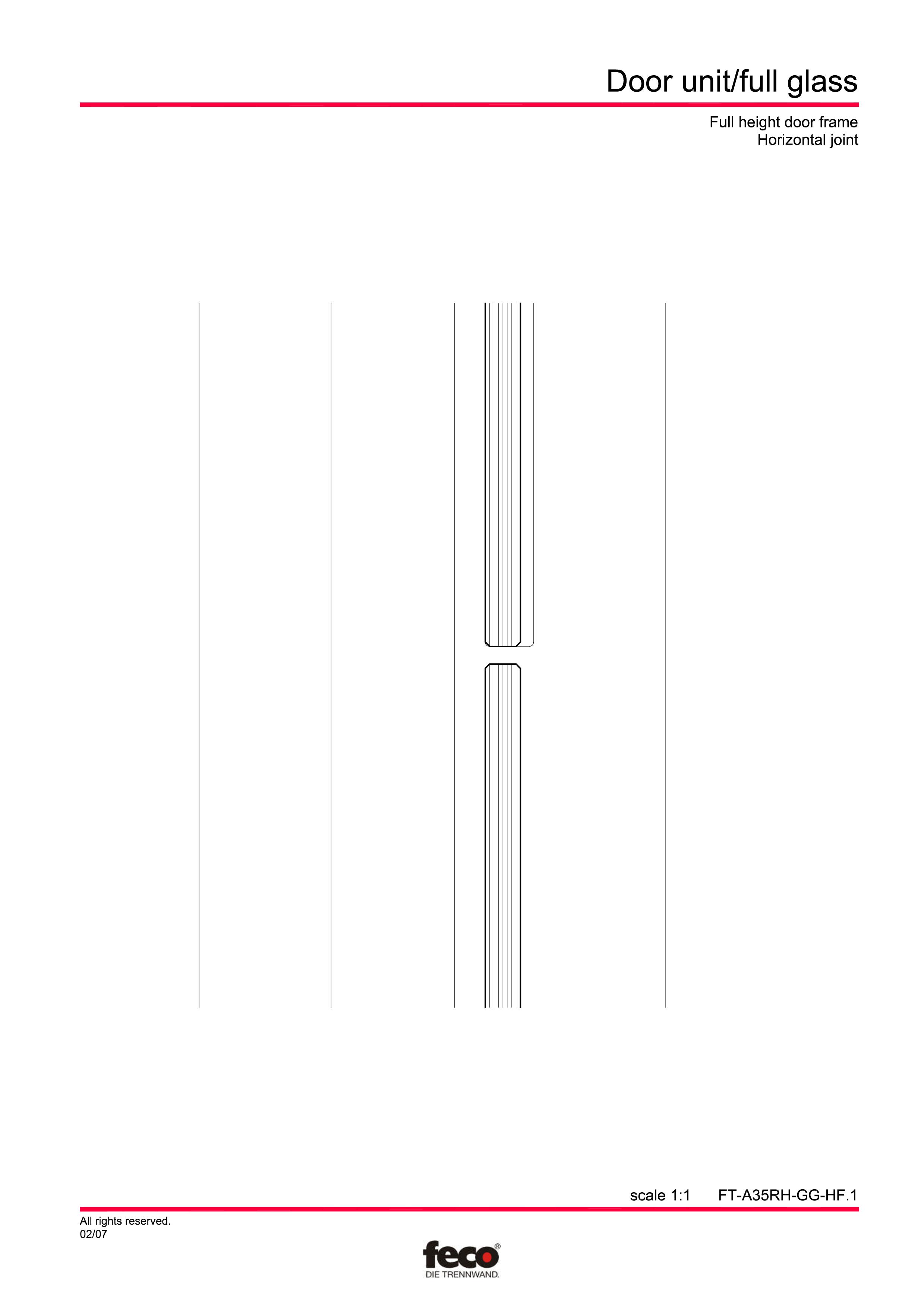 Pagina 3 - CAD-PDF Usa de sticla (pana la planseu) FECO Detaliu de montaj