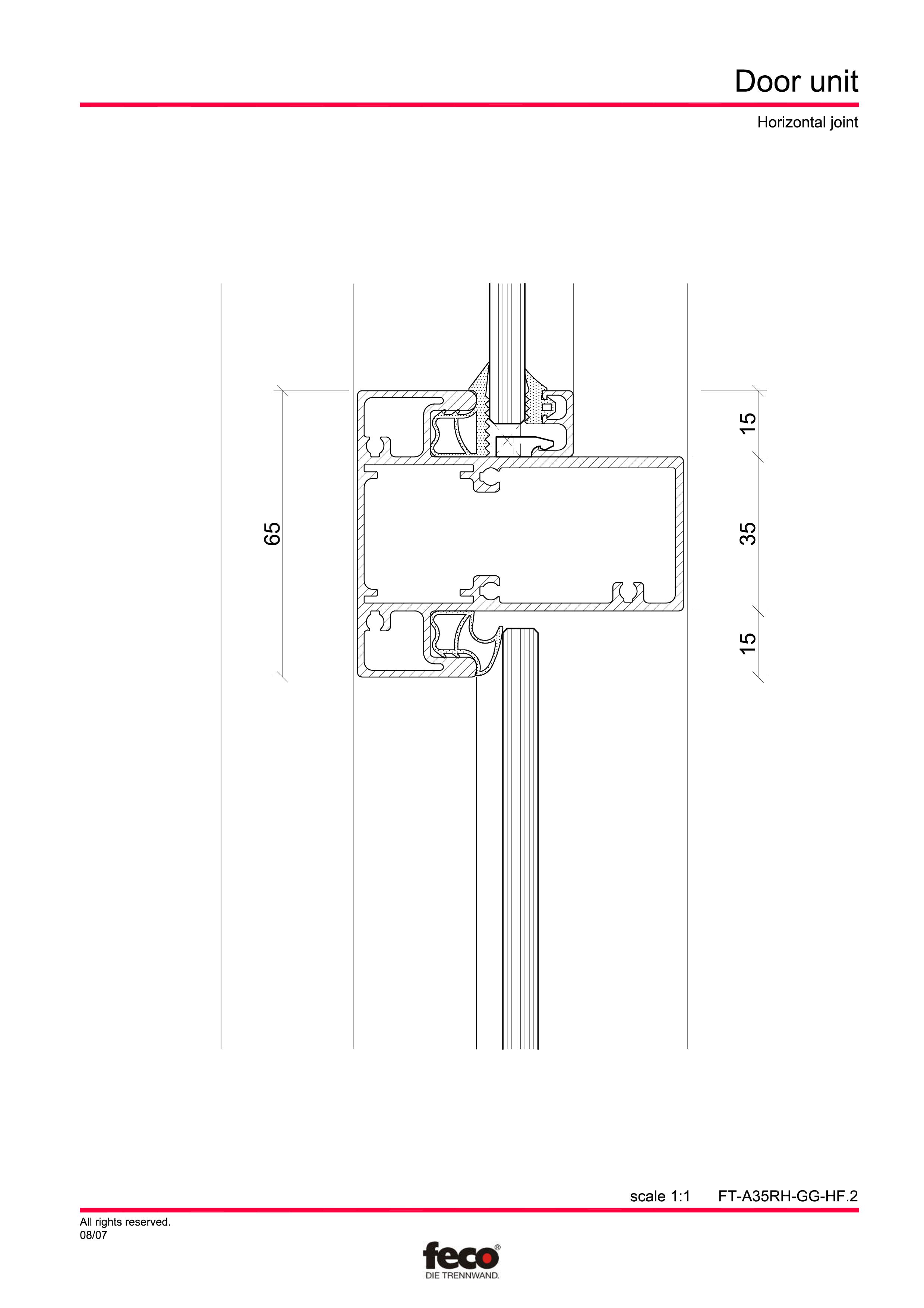 Pagina 6 - CAD-PDF Usa de sticla (pana la planseu) FECO Detaliu de montaj