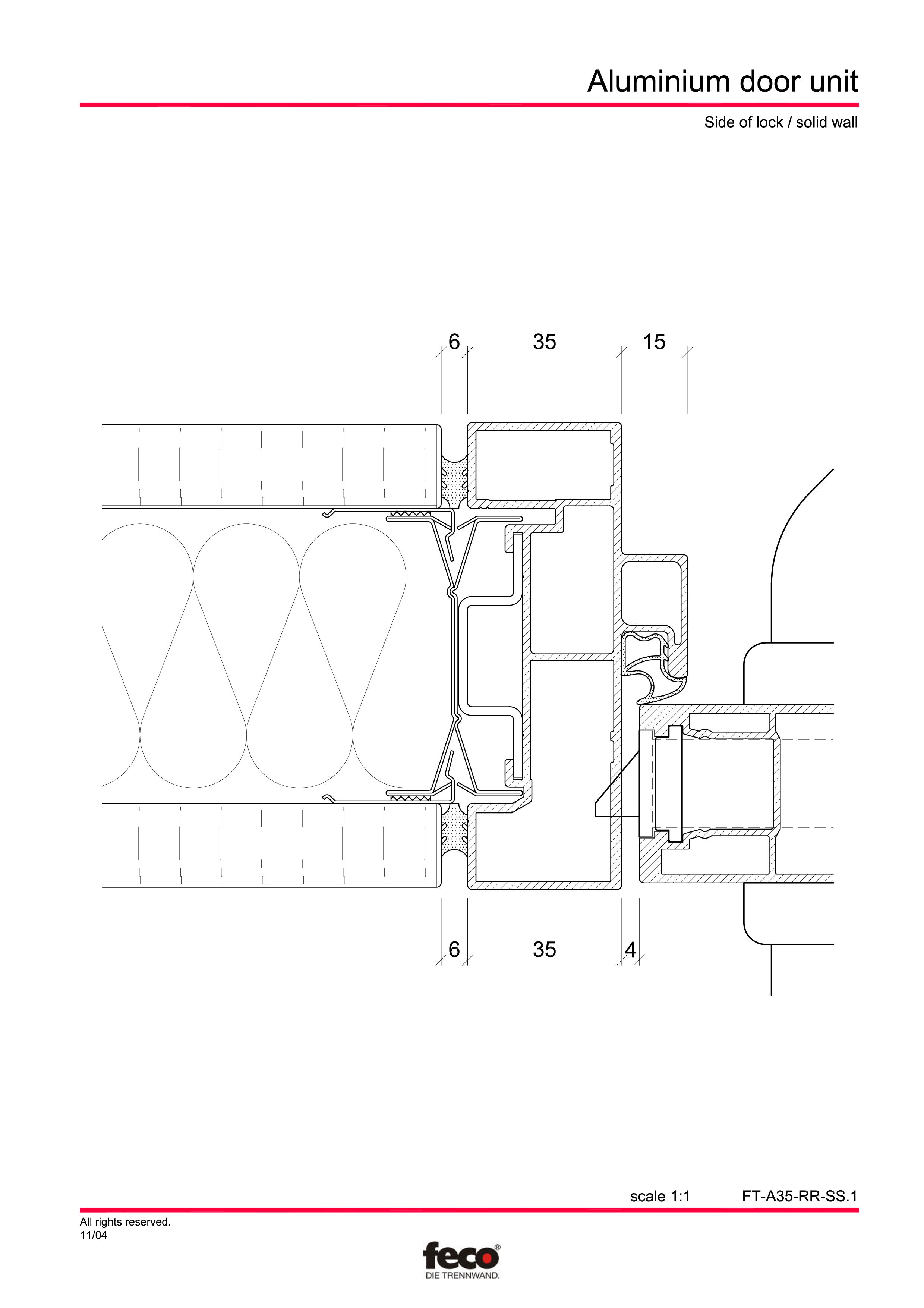 Pagina 2 - CAD-PDF Usa din aluminiu FECO Detaliu de montaj
