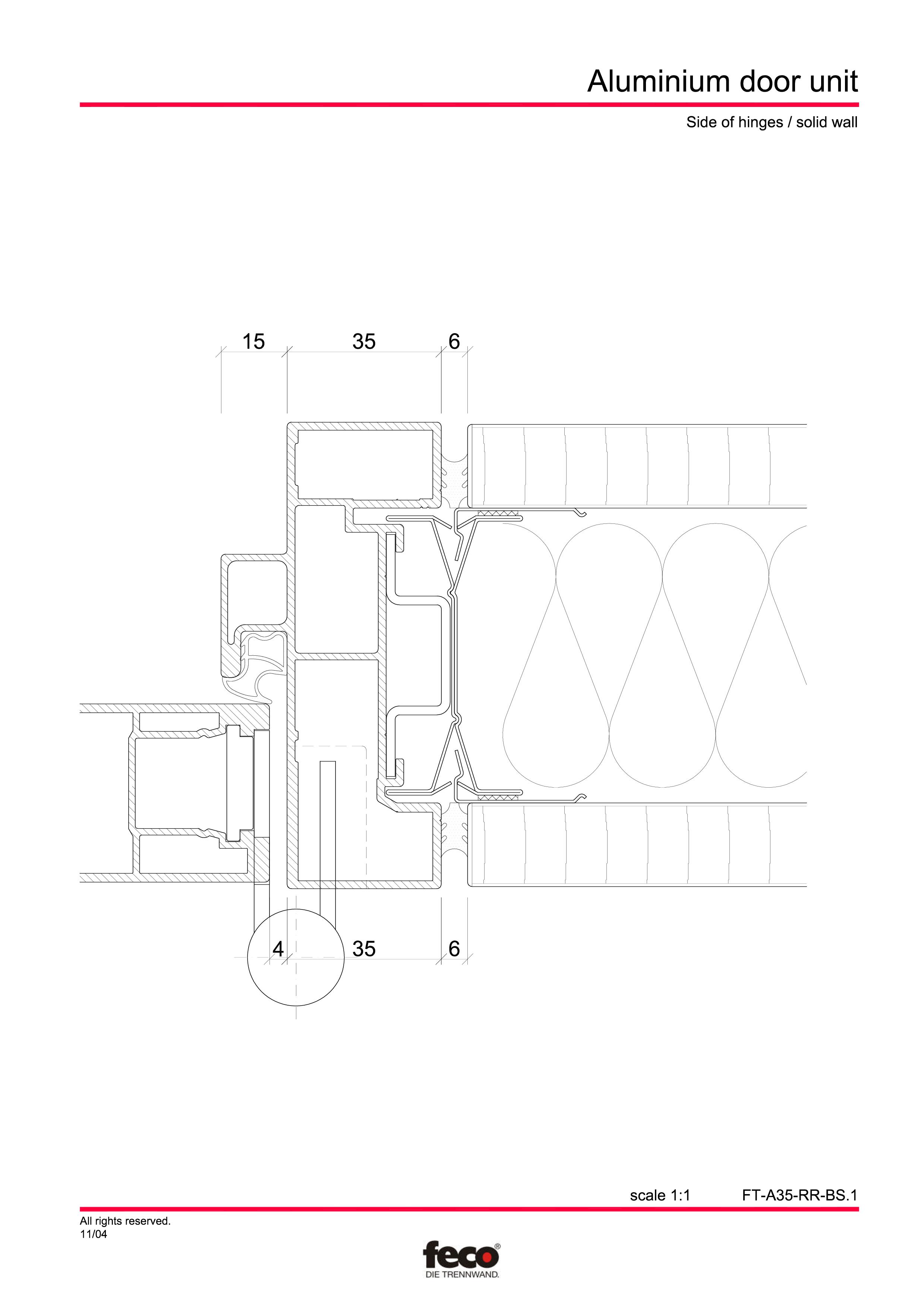 Pagina 3 - CAD-PDF Usa din aluminiu FECO Detaliu de montaj
