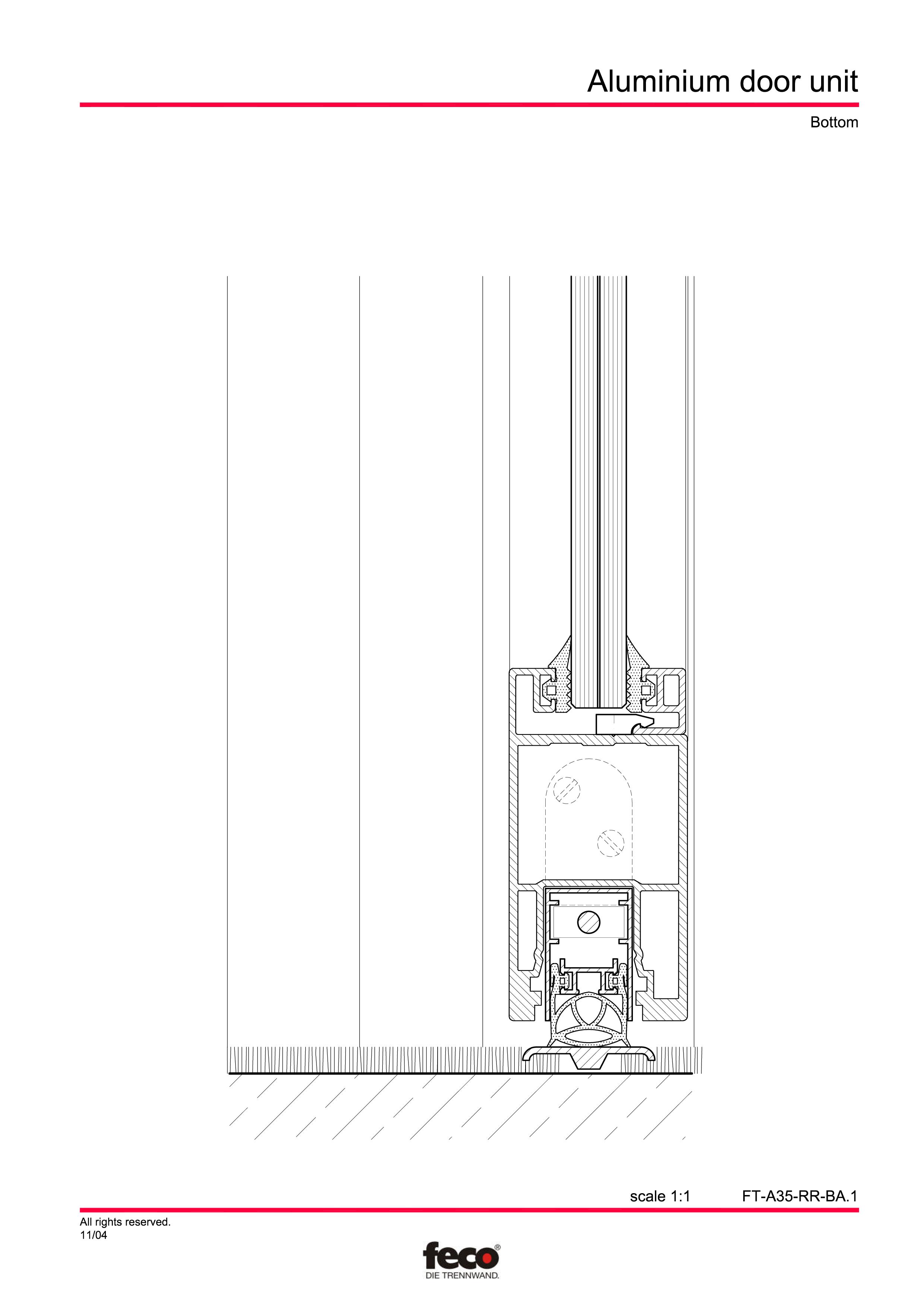 Pagina 4 - CAD-PDF Usa din aluminiu FECO Detaliu de montaj