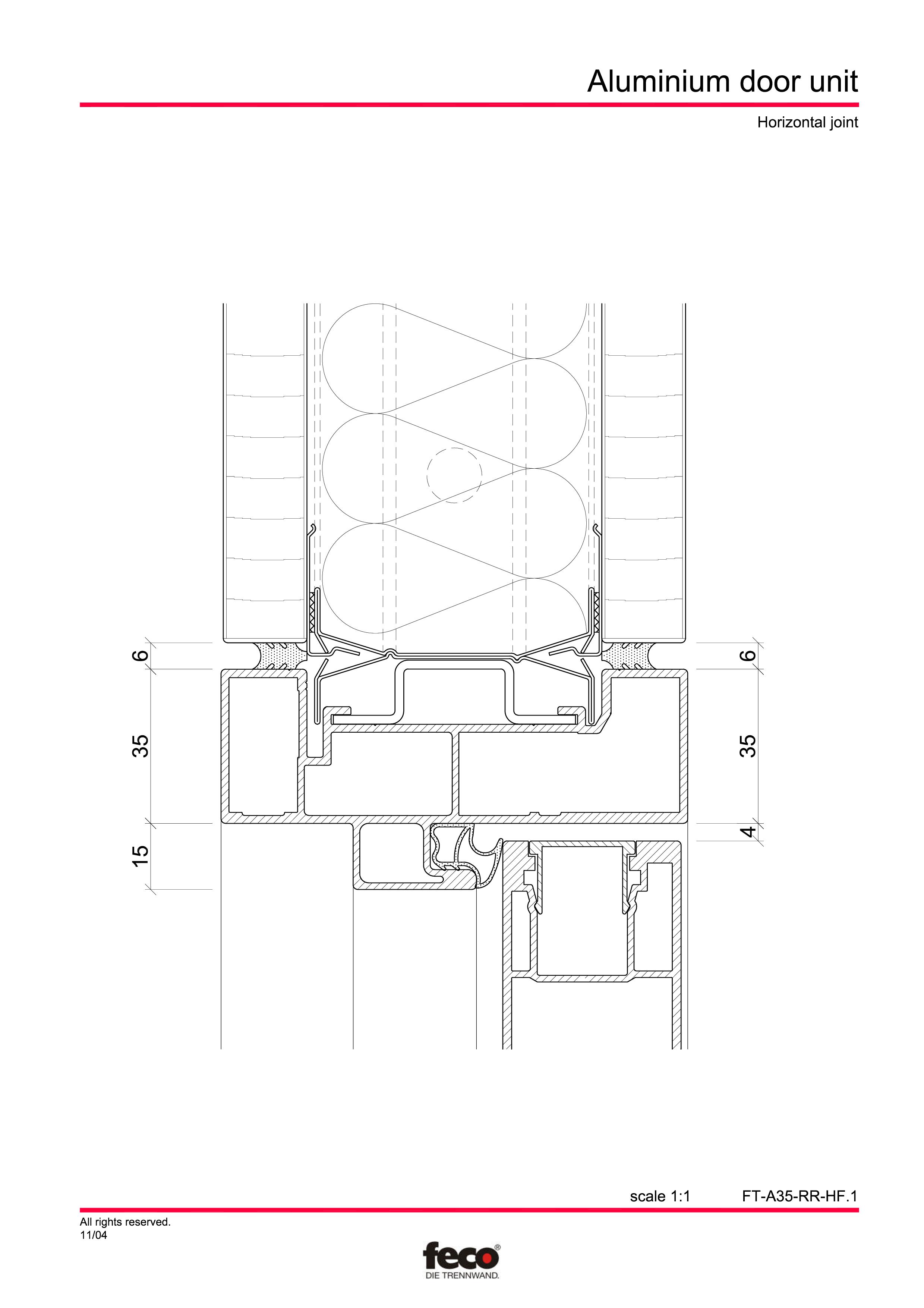 Pagina 5 - CAD-PDF Usa din aluminiu FECO Detaliu de montaj