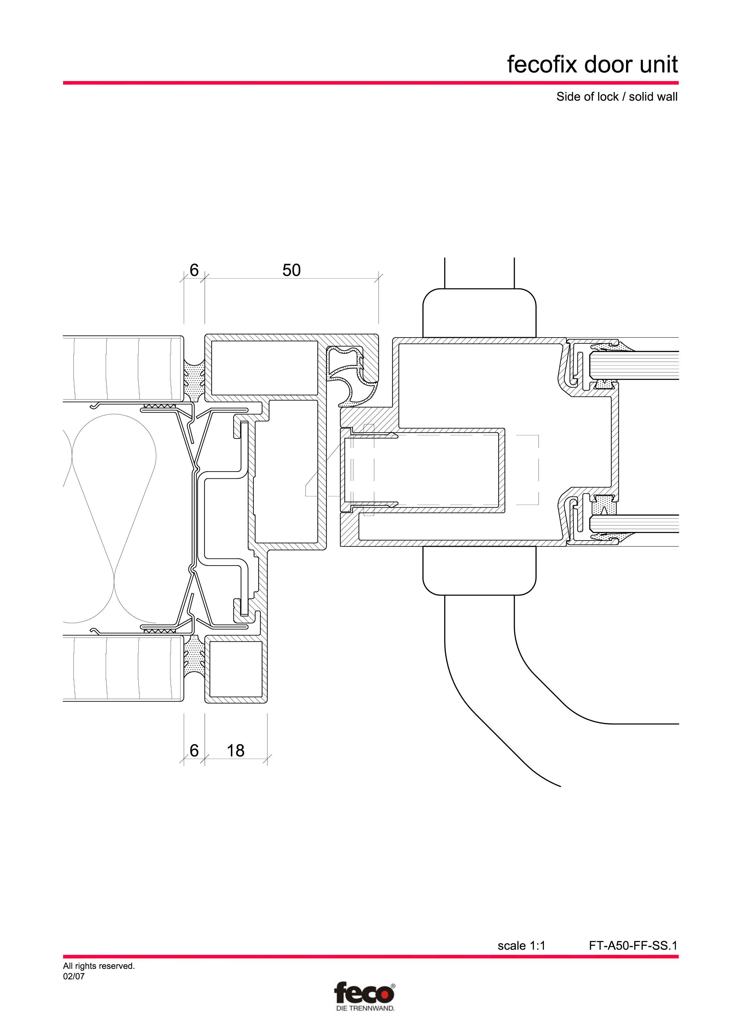 Pagina 3 - CAD-PDF Usa din aluminiu cu dublu vitraj FECO Detaliu de montaj FecoFix