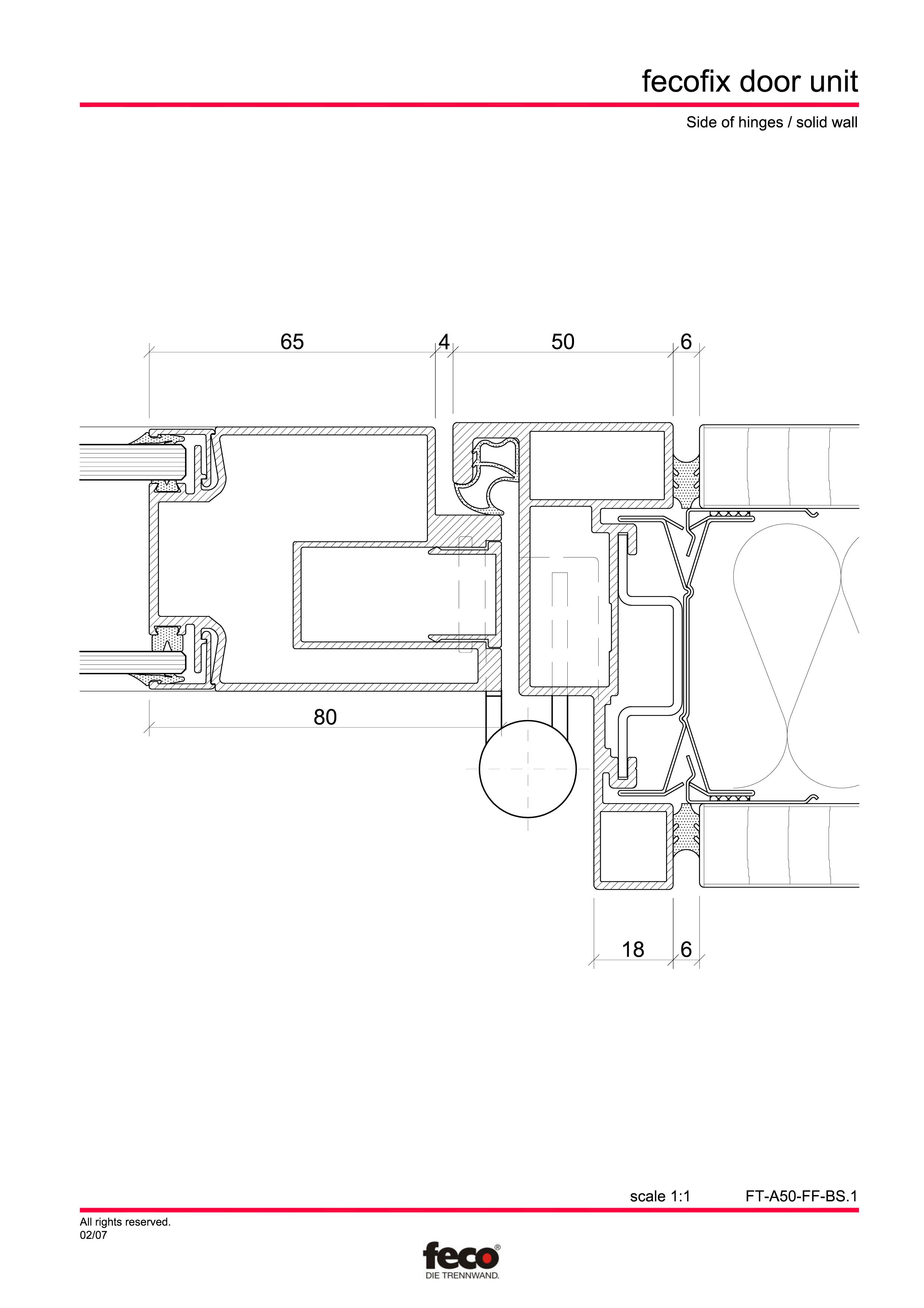 Pagina 4 - CAD-PDF Usa din aluminiu cu dublu vitraj FECO Detaliu de montaj FecoFix
