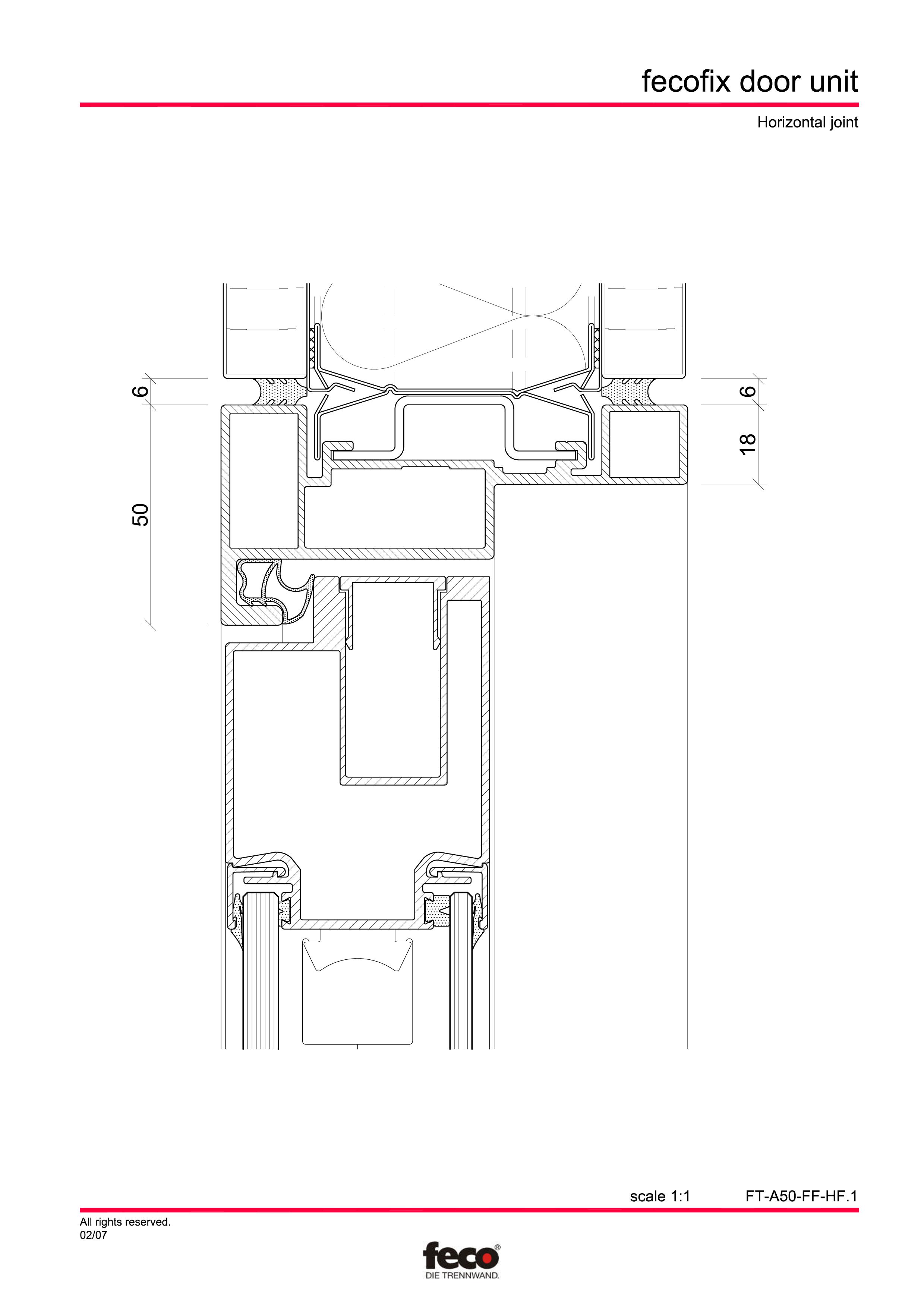 Pagina 5 - CAD-PDF Usa din aluminiu cu dublu vitraj FECO Detaliu de montaj FecoFix