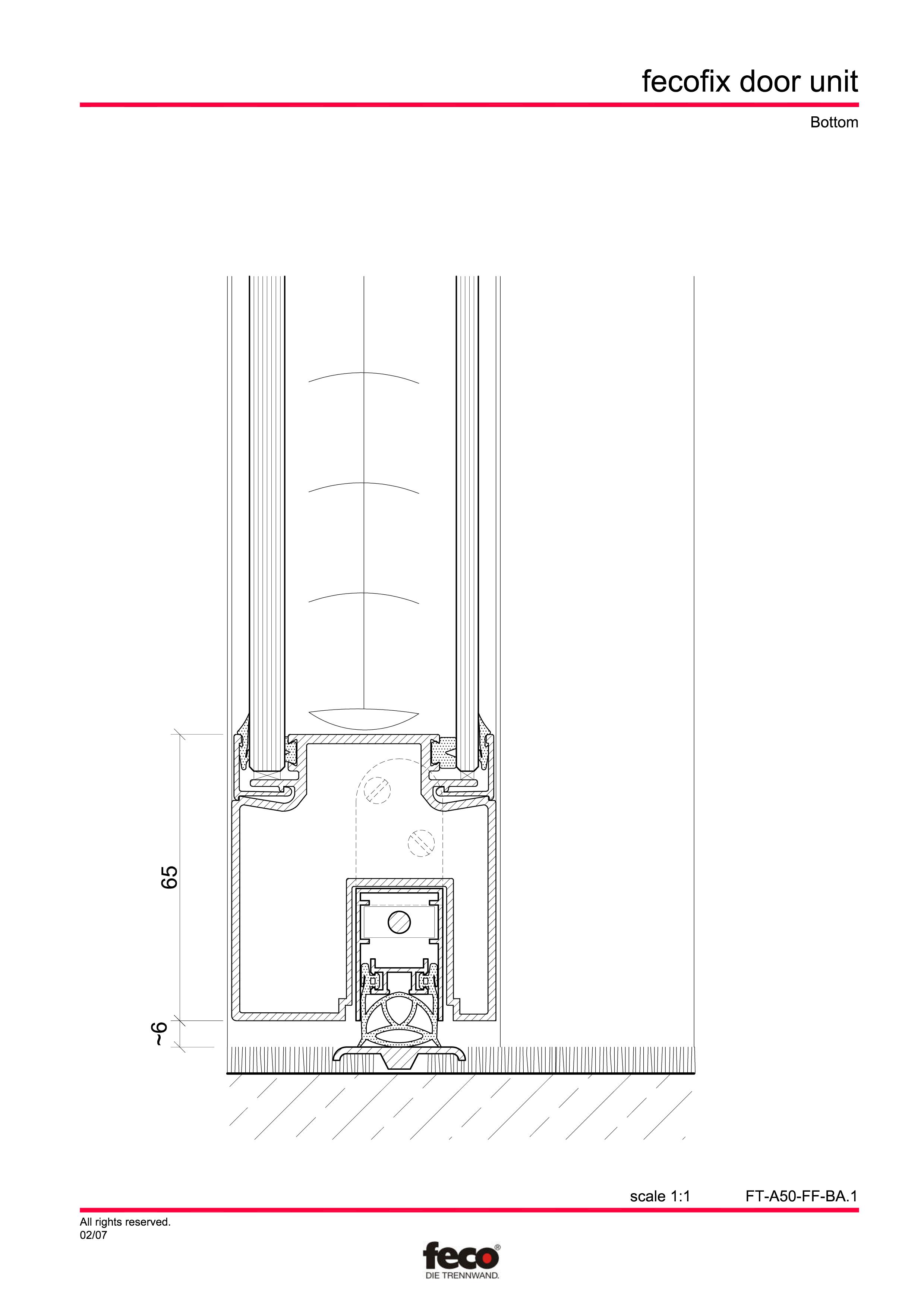 Pagina 6 - CAD-PDF Usa din aluminiu cu dublu vitraj FECO Detaliu de montaj FecoFix