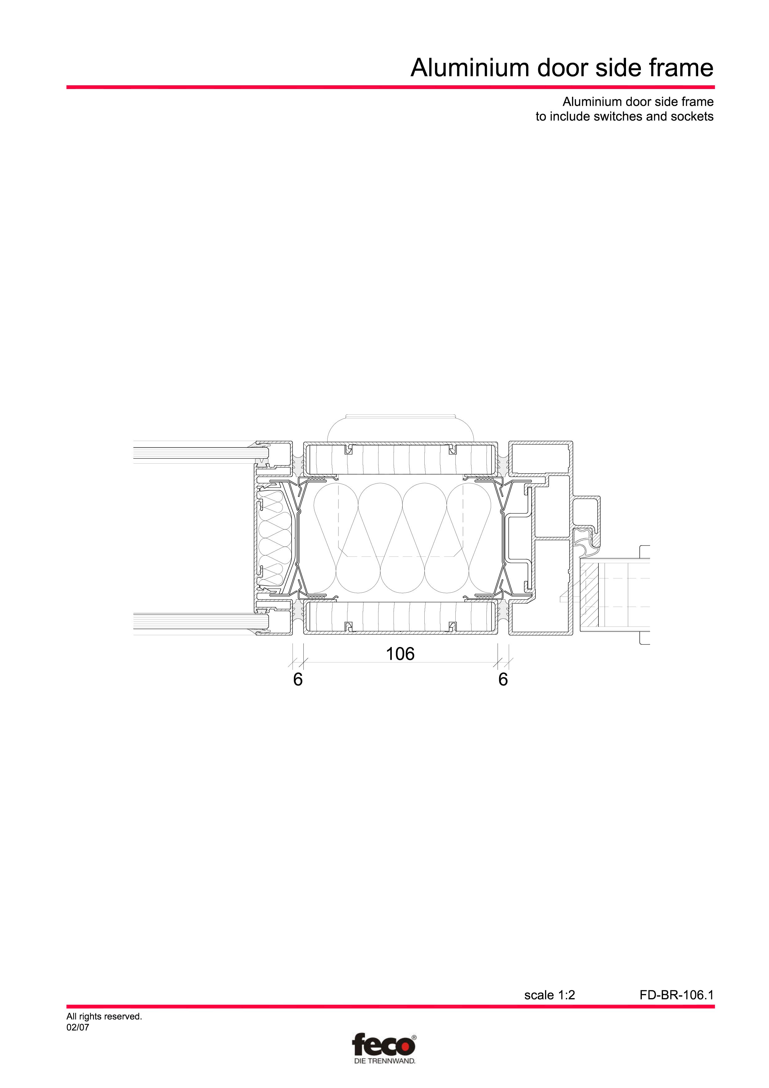 Pagina 1 - CAD-PDF Detaliu racord usa la perete FECO Detaliu de montaj FecoFix, FecoCent, FecoLux,...