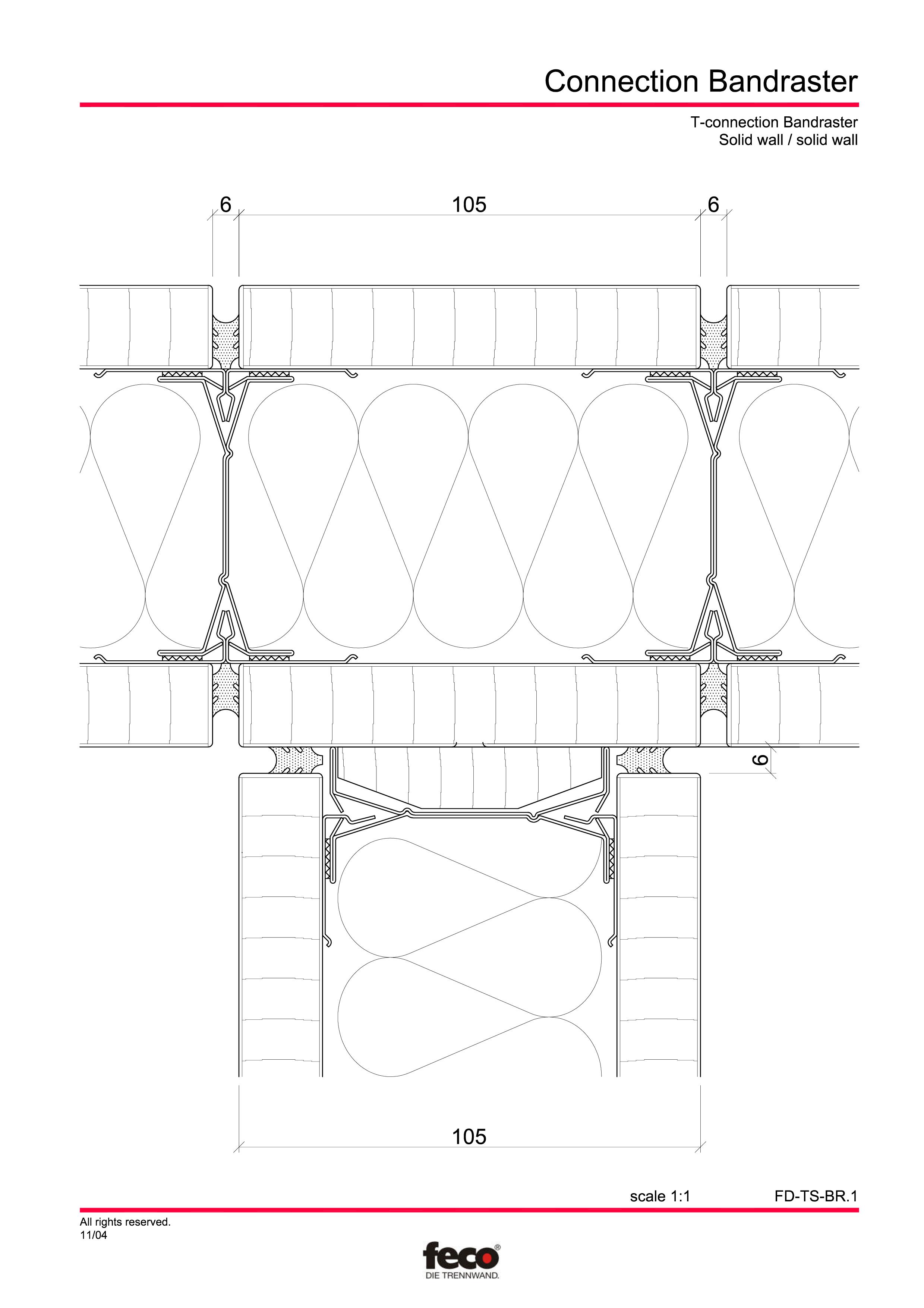 Pagina 1 - CAD-PDF Detaliu racord pereti FECO Detaliu de montaj FecoPur, FecoFix, FecoLux