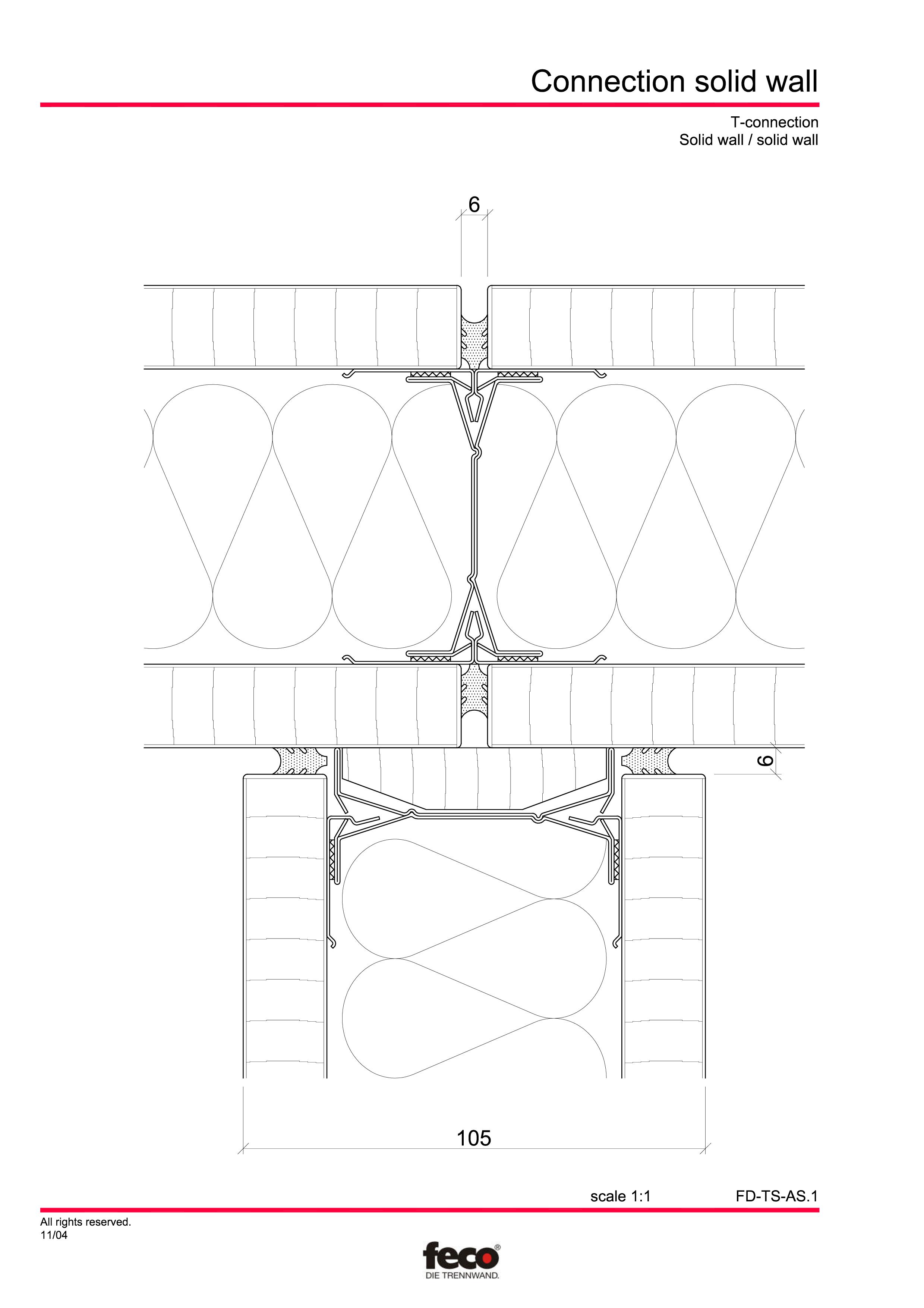 Pagina 2 - CAD-PDF Detaliu racord pereti FECO Detaliu de montaj FecoPur, FecoFix, FecoLux