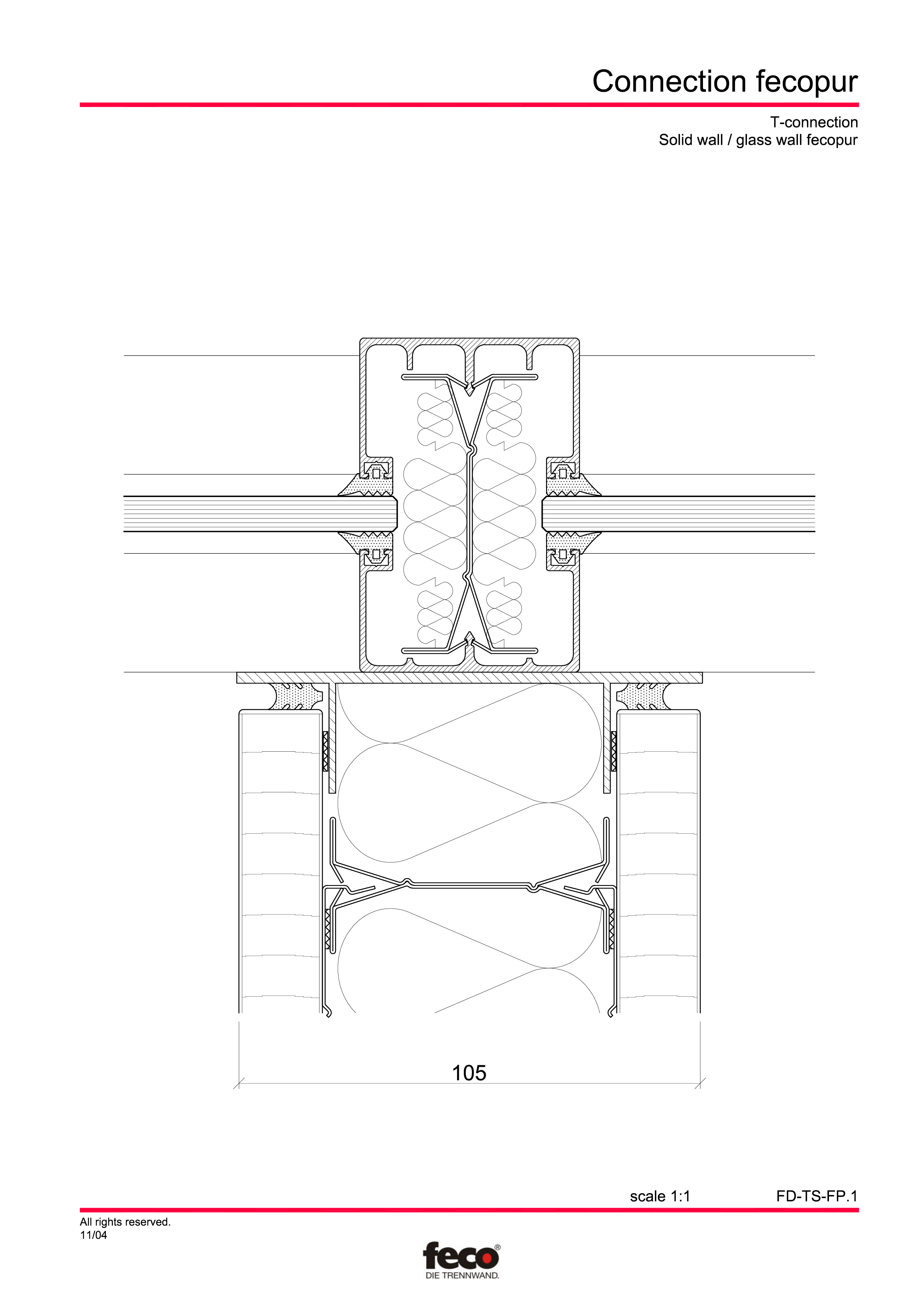Pagina 3 - CAD-PDF Detaliu racord pereti FECO Detaliu de montaj FecoPur, FecoFix, FecoLux