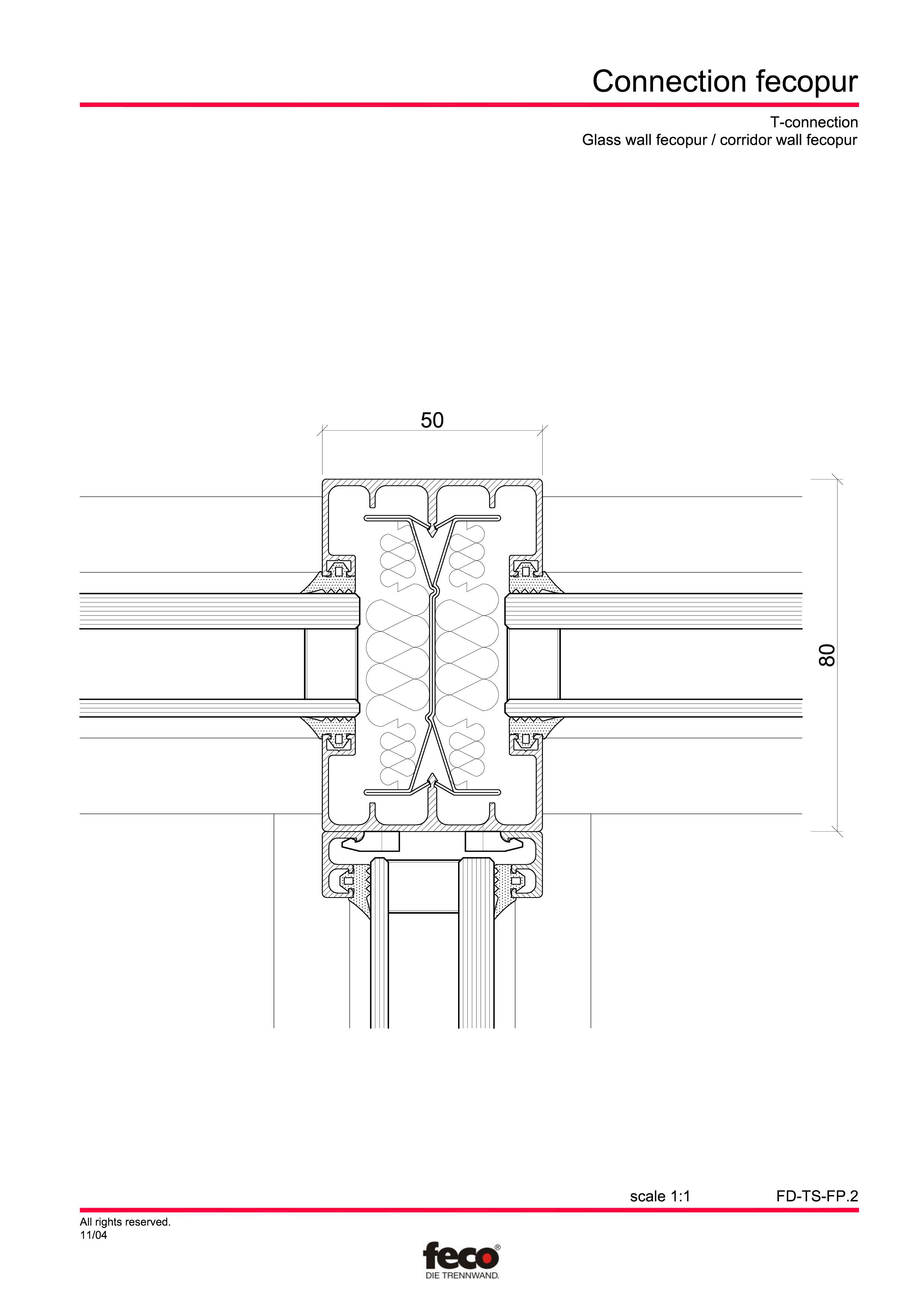 Pagina 4 - CAD-PDF Detaliu racord pereti FECO Detaliu de montaj FecoPur, FecoFix, FecoLux